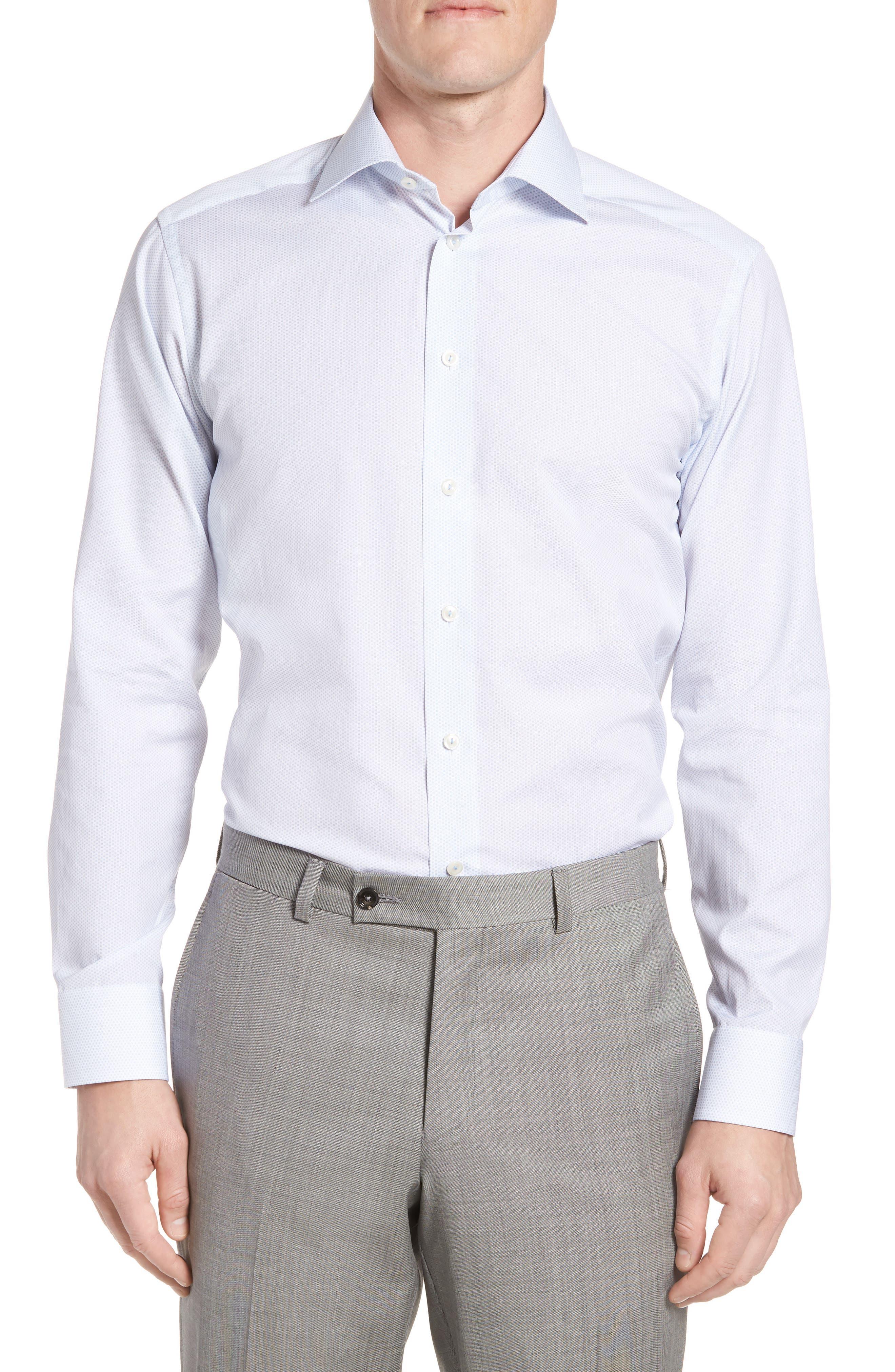 Eton Slim Fit Print Sport Shirt