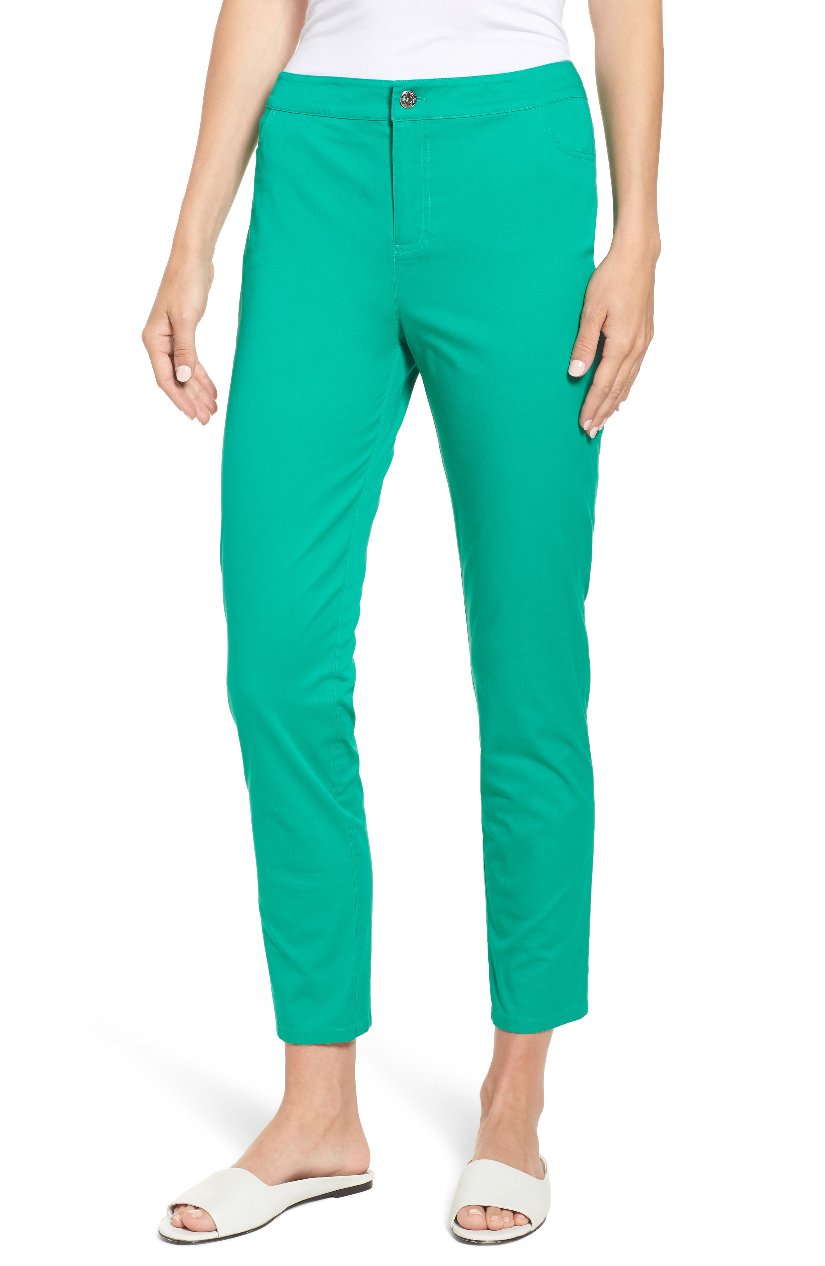 Chaus Straight Leg Twill Ankle Pants