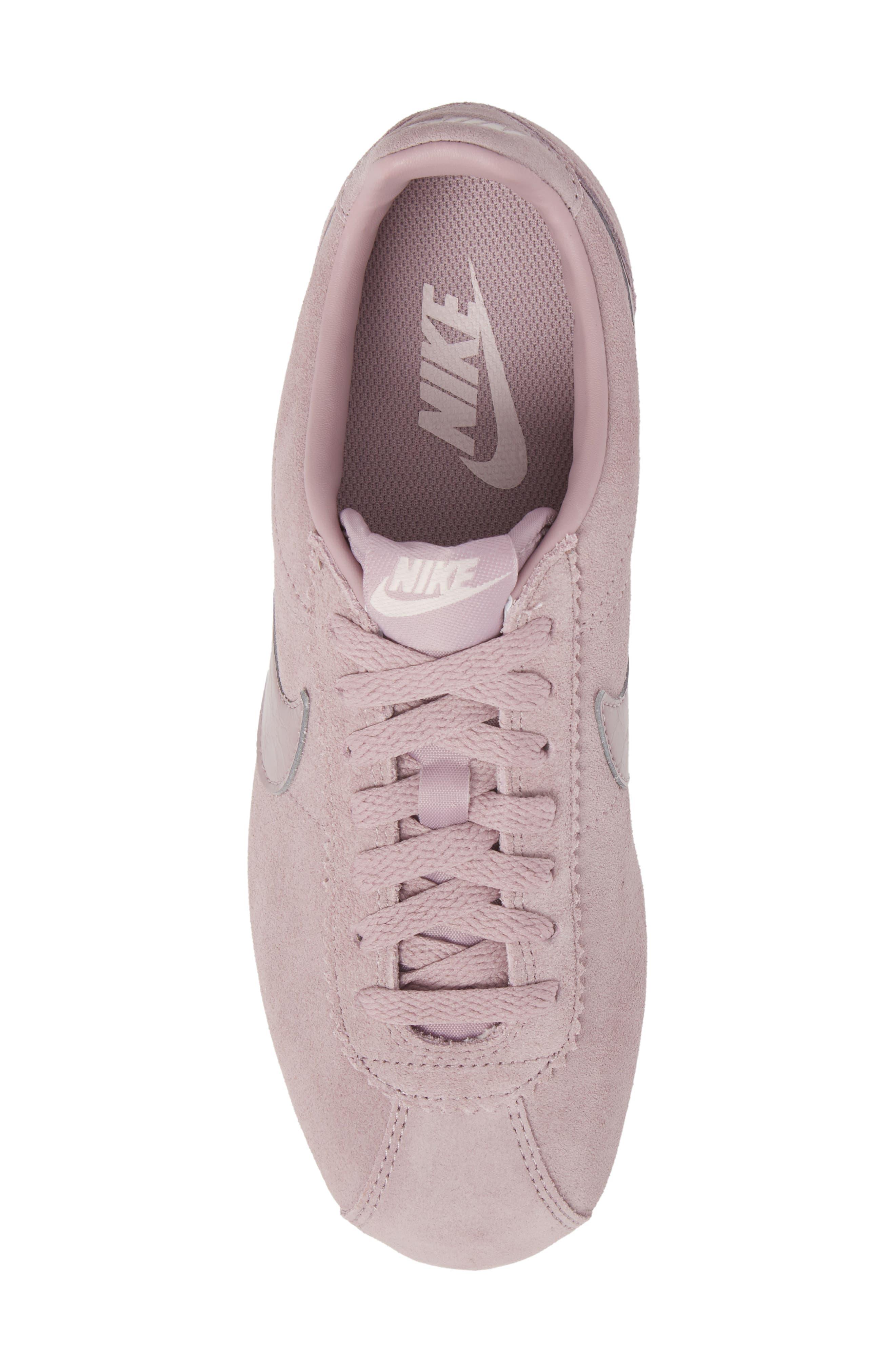 Classic Cortez Suede Sneaker,                             Alternate thumbnail 5, color,                             Elemental Rose/ Elemental Rose
