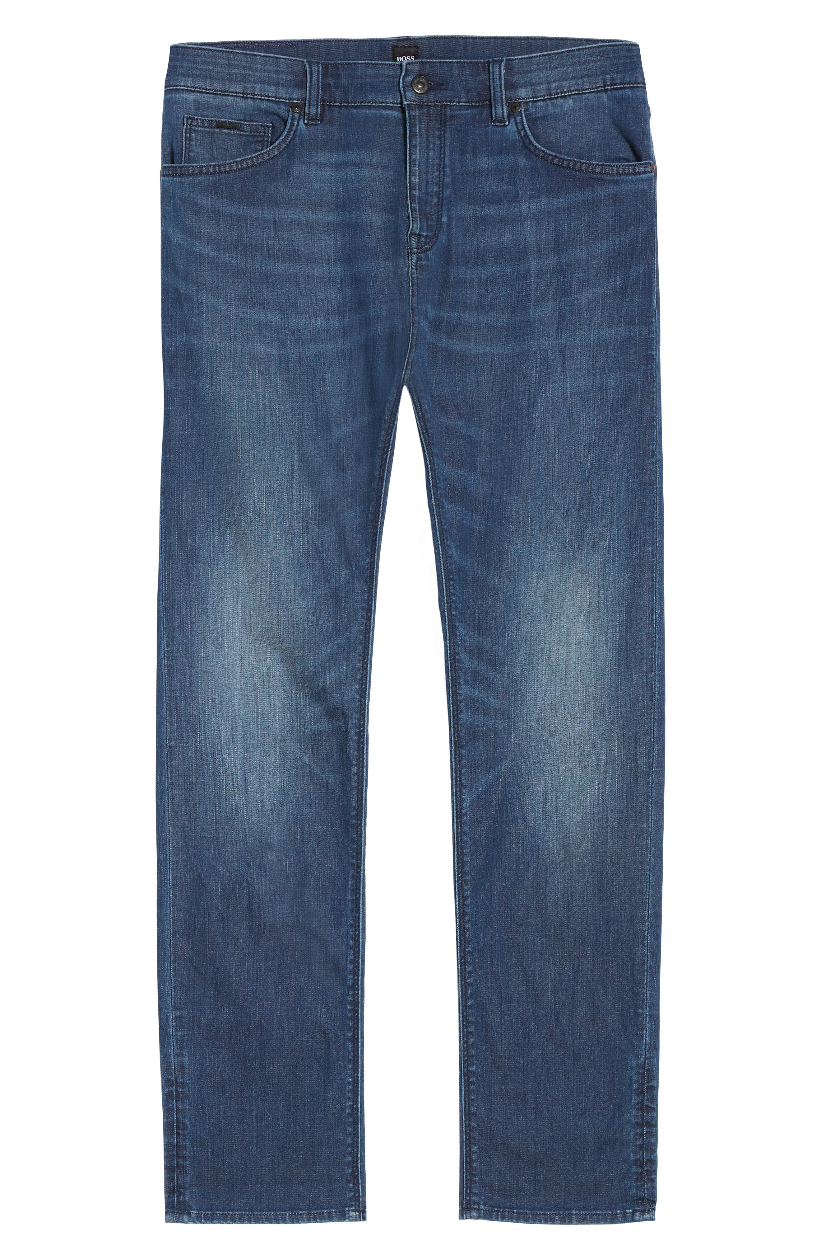 Maine Straight Leg Jeans,                             Alternate thumbnail 6, color,                             Blue