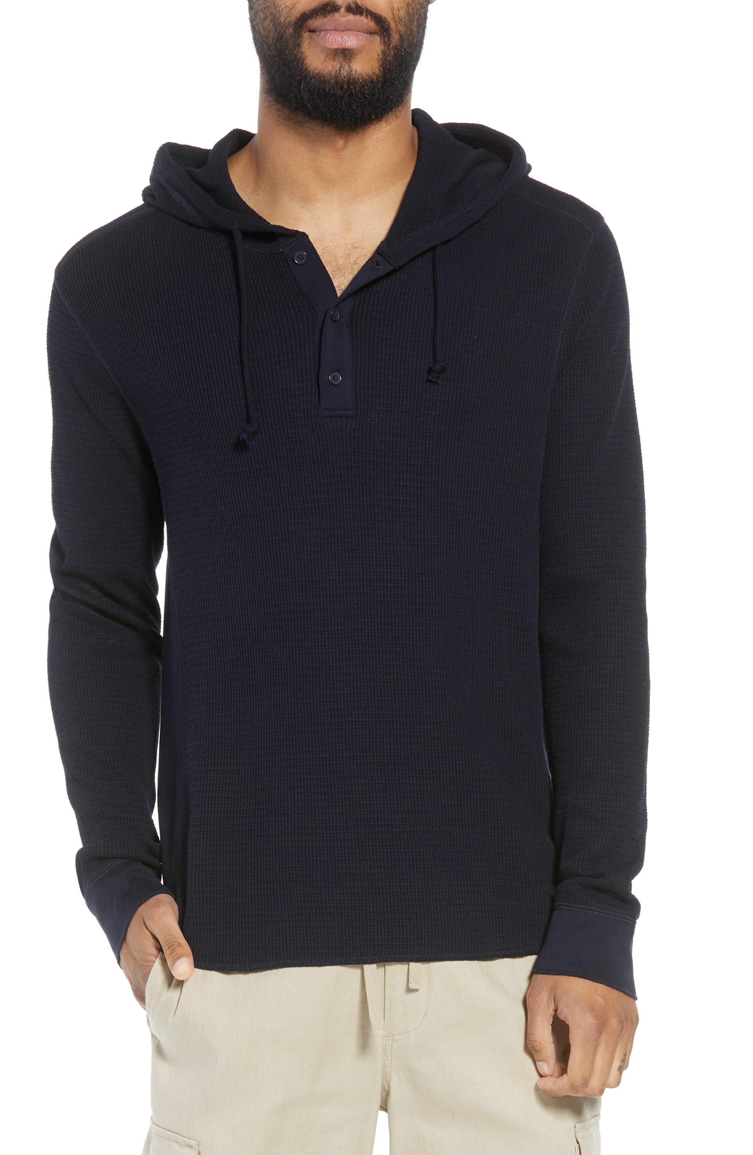 Regular Fit Thermal Knit Pullover Hoodie,                         Main,                         color, New Coastal