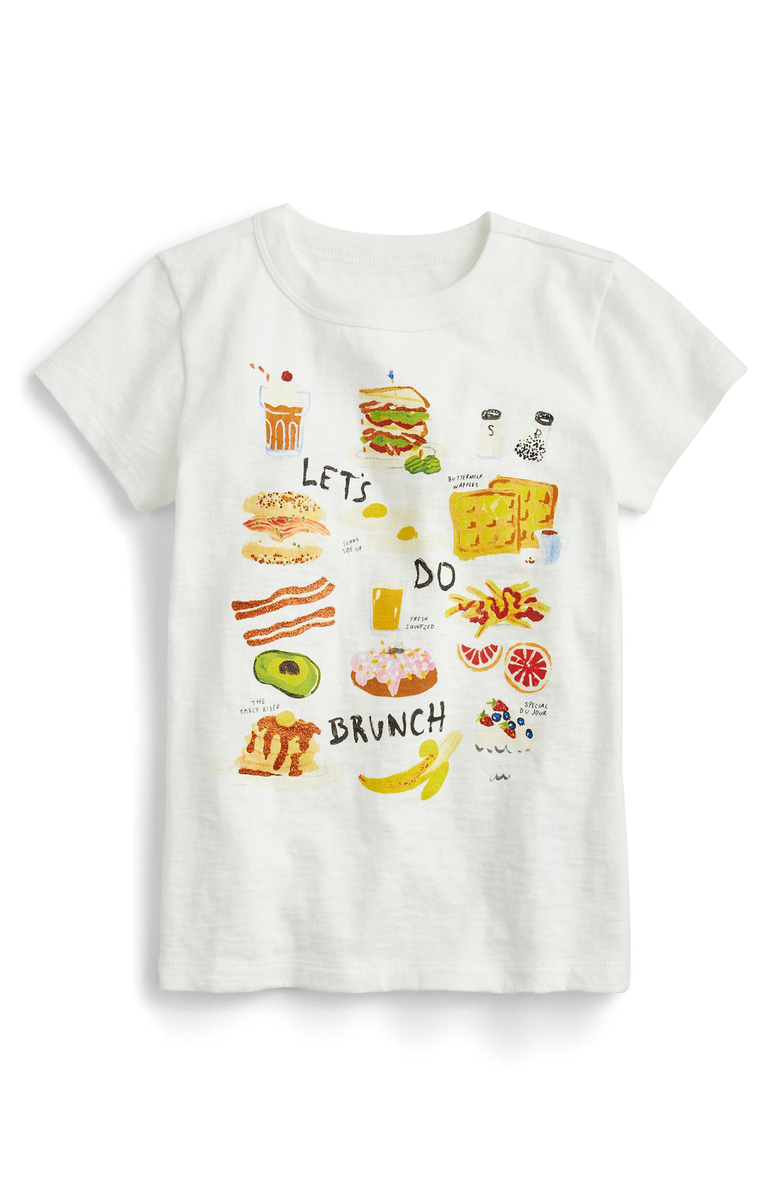 crewcuts by J. Crew Let's Do Brunch Graphic Tee (Toddler Girls, Little Girls & Big Girls)