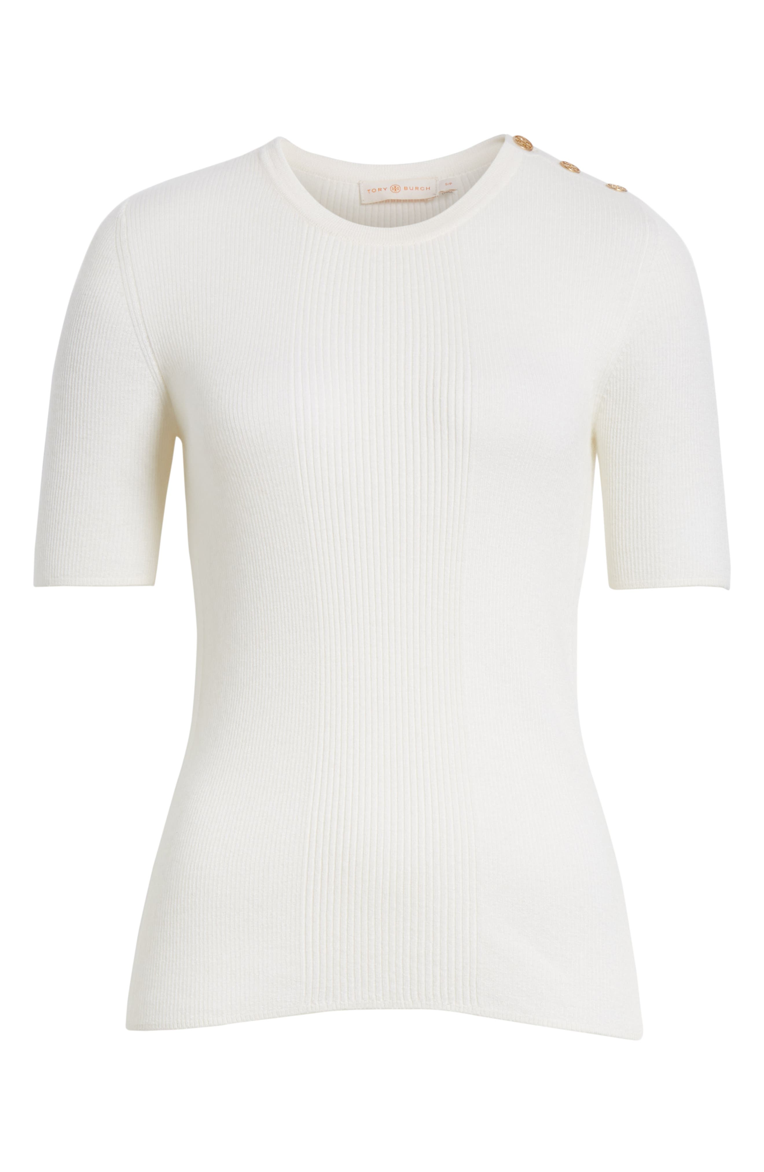 Taylor Ribbed Cashmere Sweater,                             Alternate thumbnail 6, color,                             New Ivory