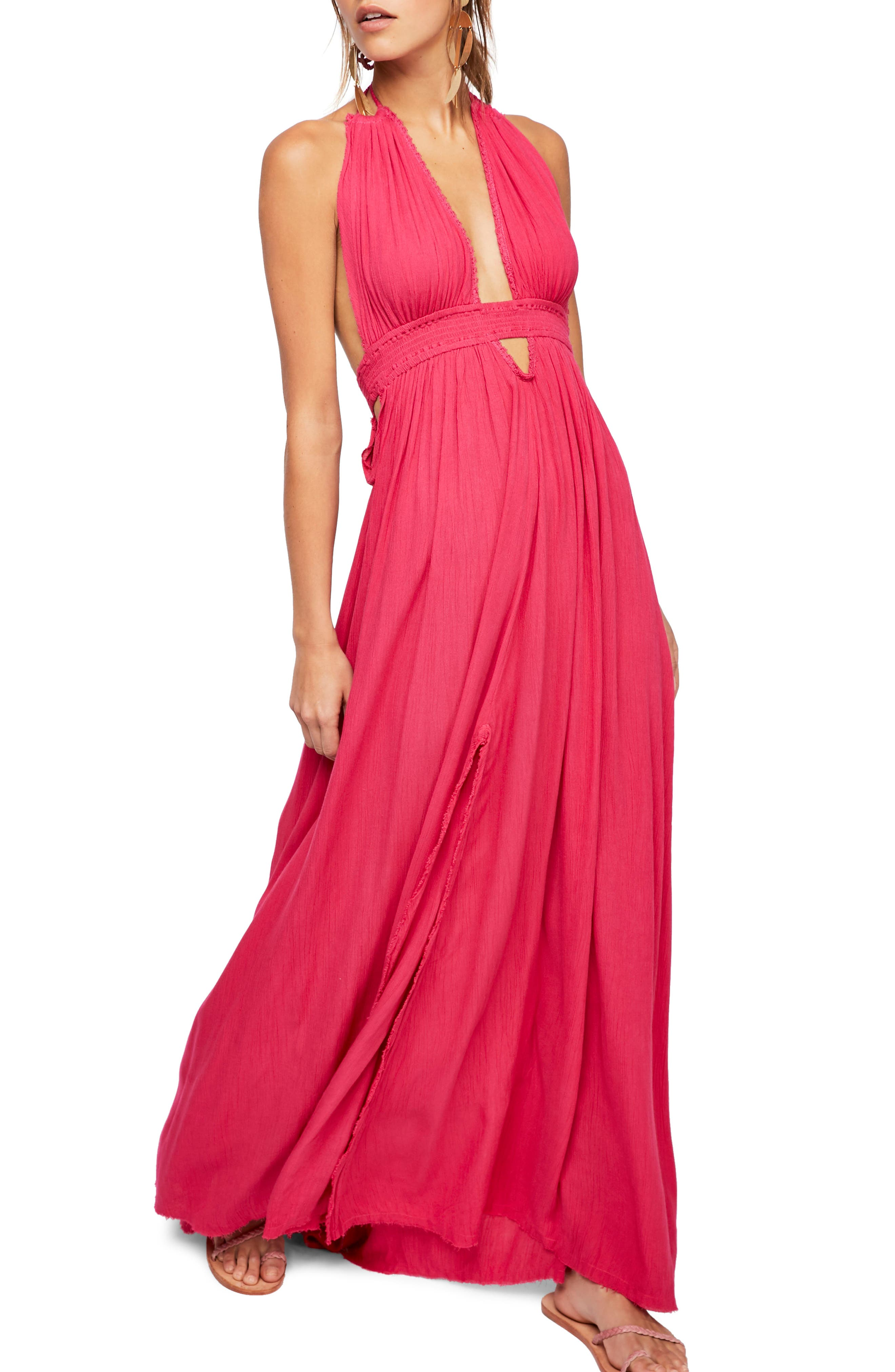 Endless Summer by Free People Look into the Sun Maxi Dress,                             Main thumbnail 1, color,                             Dark Pink