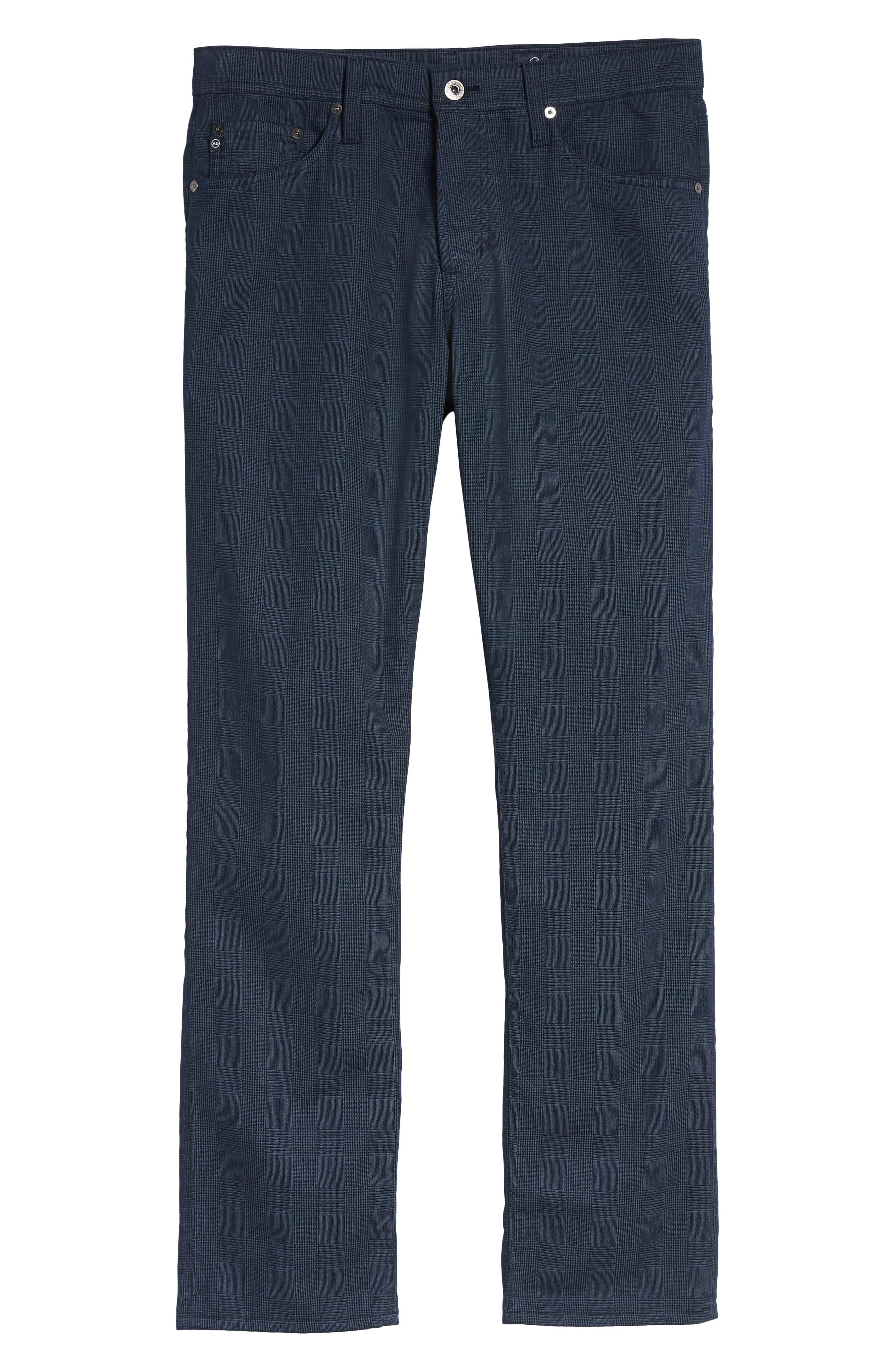 Herringbone Everett SUD Straight Leg Pants,                             Alternate thumbnail 6, color,                             Fine Plaid Blue Vault