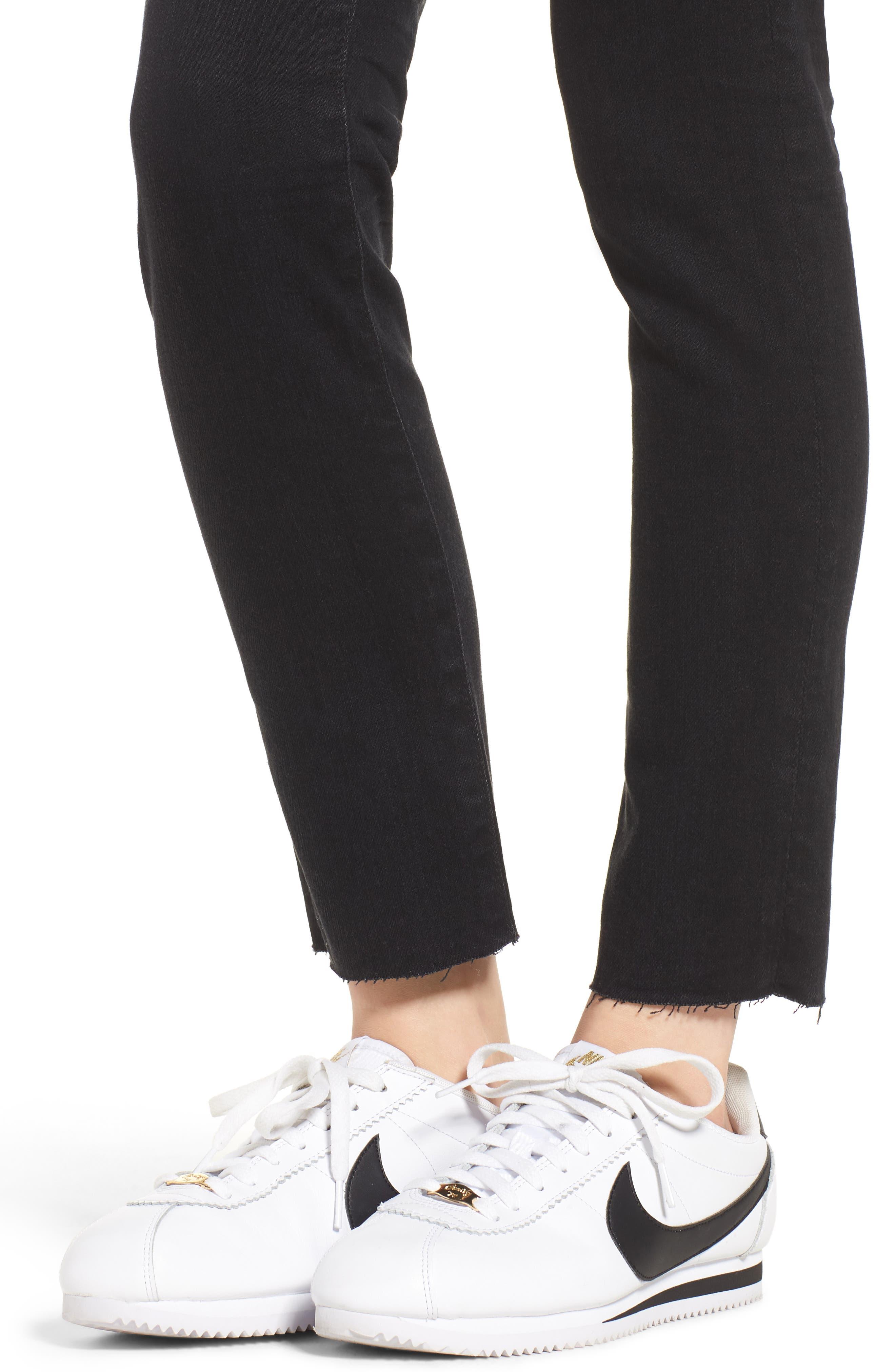 Sophia High Waist Ankle Skinny Jeans,                             Alternate thumbnail 4, color,                             1 Year Black Hawk