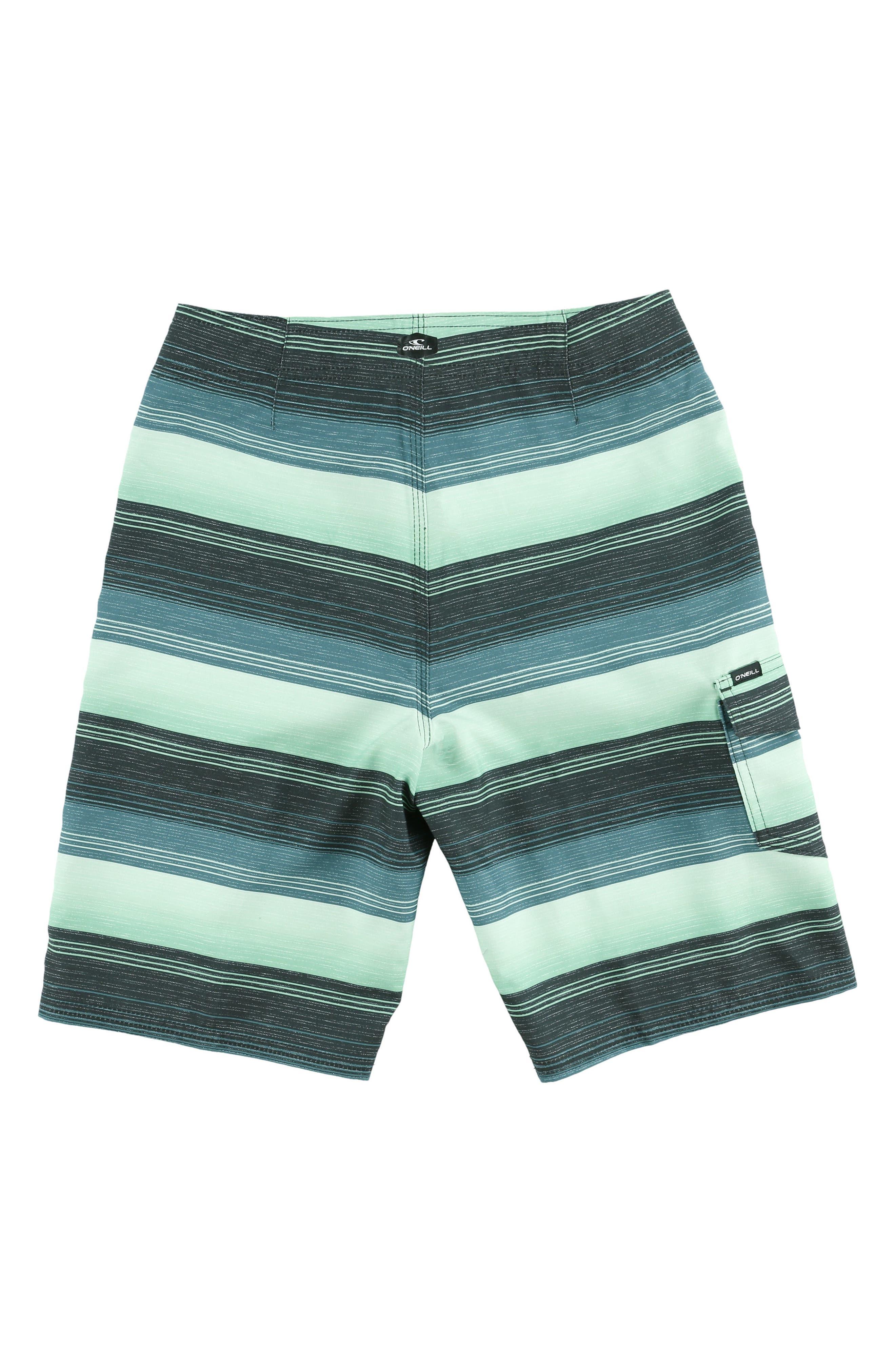 Santa Cruz Stripe Board Shorts,                             Alternate thumbnail 2, color,                             Turq