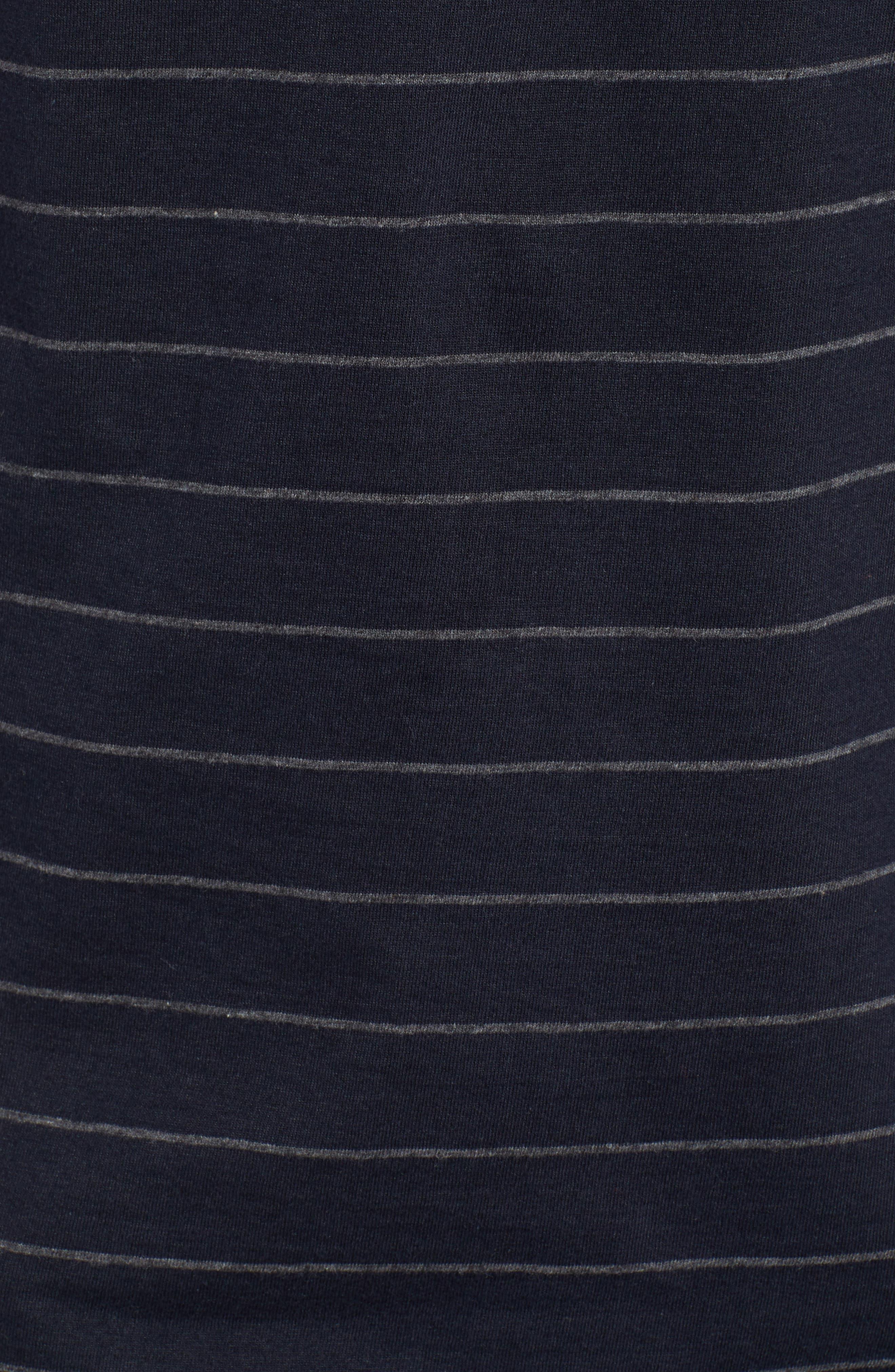 Summer Graded Stripe Pocket T-Shirt,                             Alternate thumbnail 5, color,                             Marine Blue Charcoal Melange