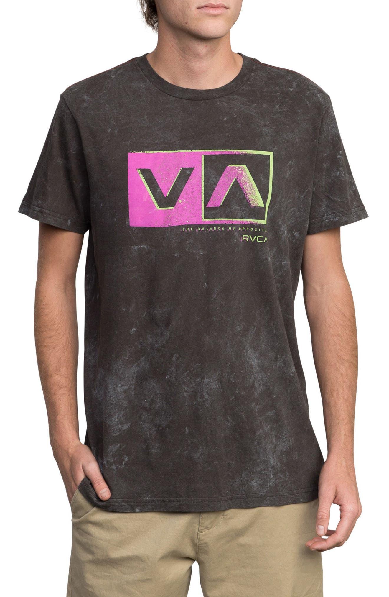 Static Box Graphic T-Shirt,                             Main thumbnail 1, color,                             Pirate Black