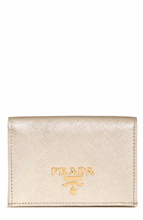 Metallic wallets card cases for women nordstrom prada saffiano metallic calfskin leather card case colourmoves
