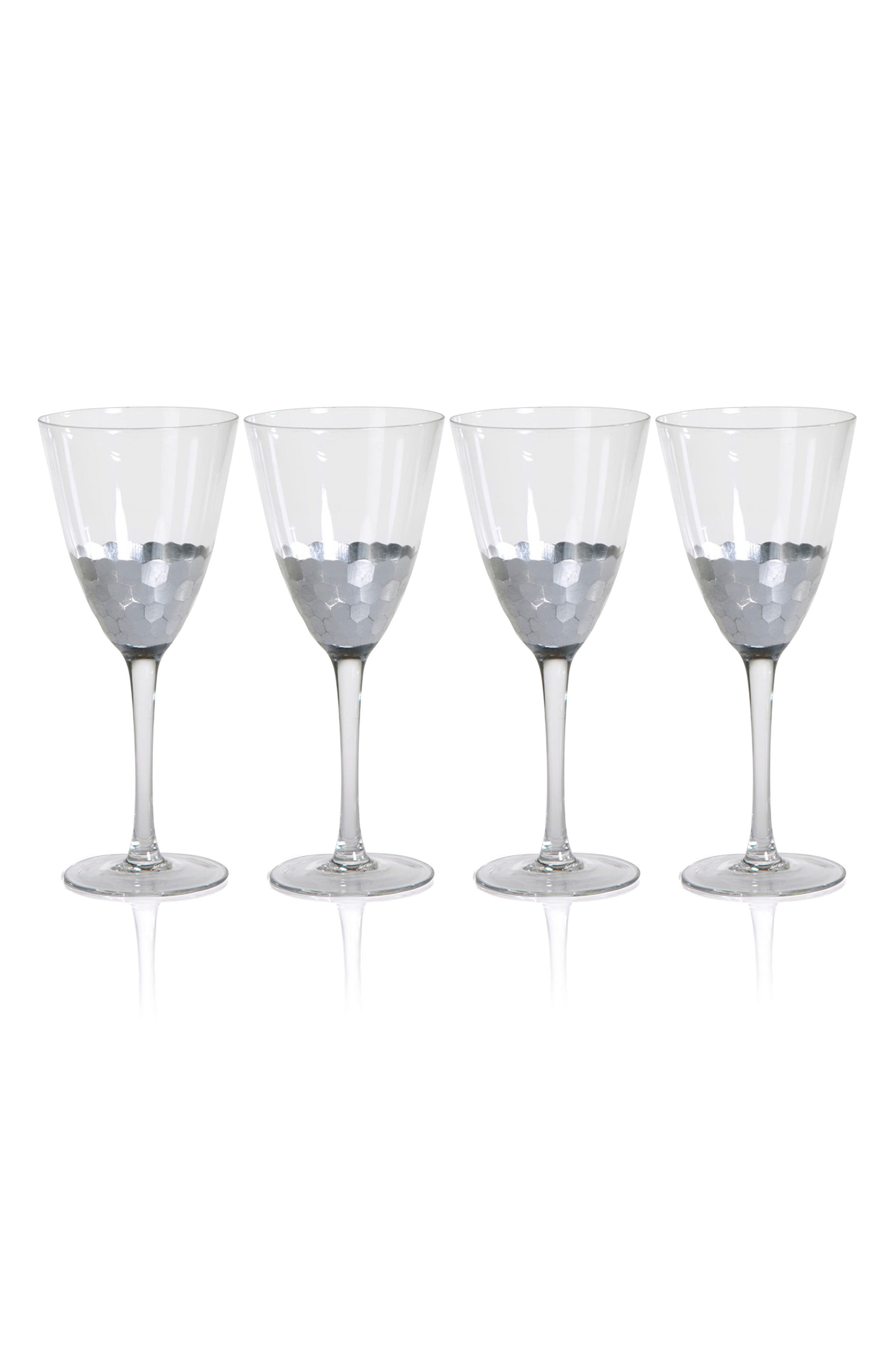 Vitorrio Set of 4 Wine Glasses,                             Main thumbnail 1, color,                             Silver