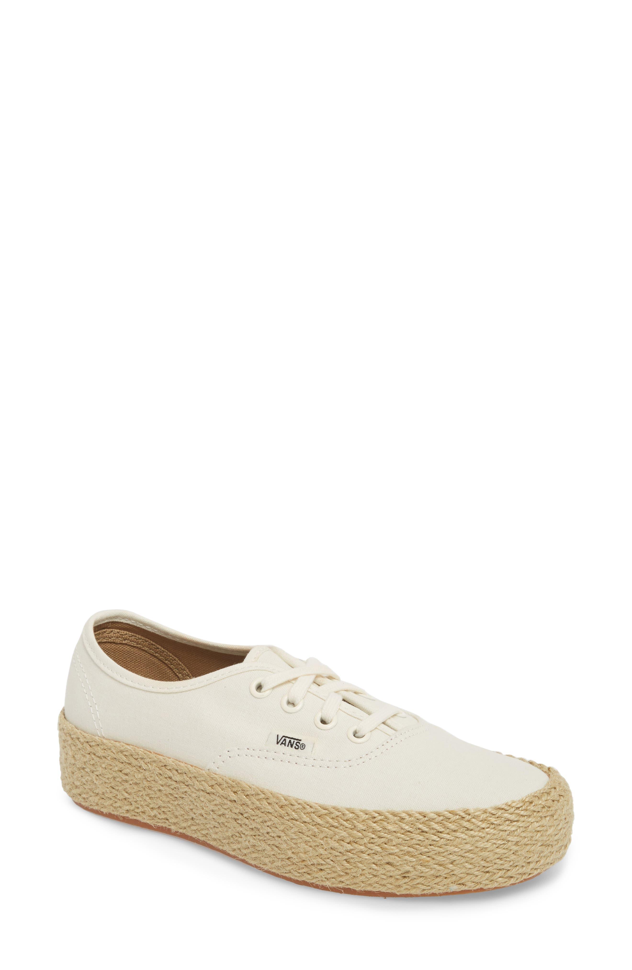 Authentic Espadrille Platform Sneaker,                         Main,                         color, Marshmallow