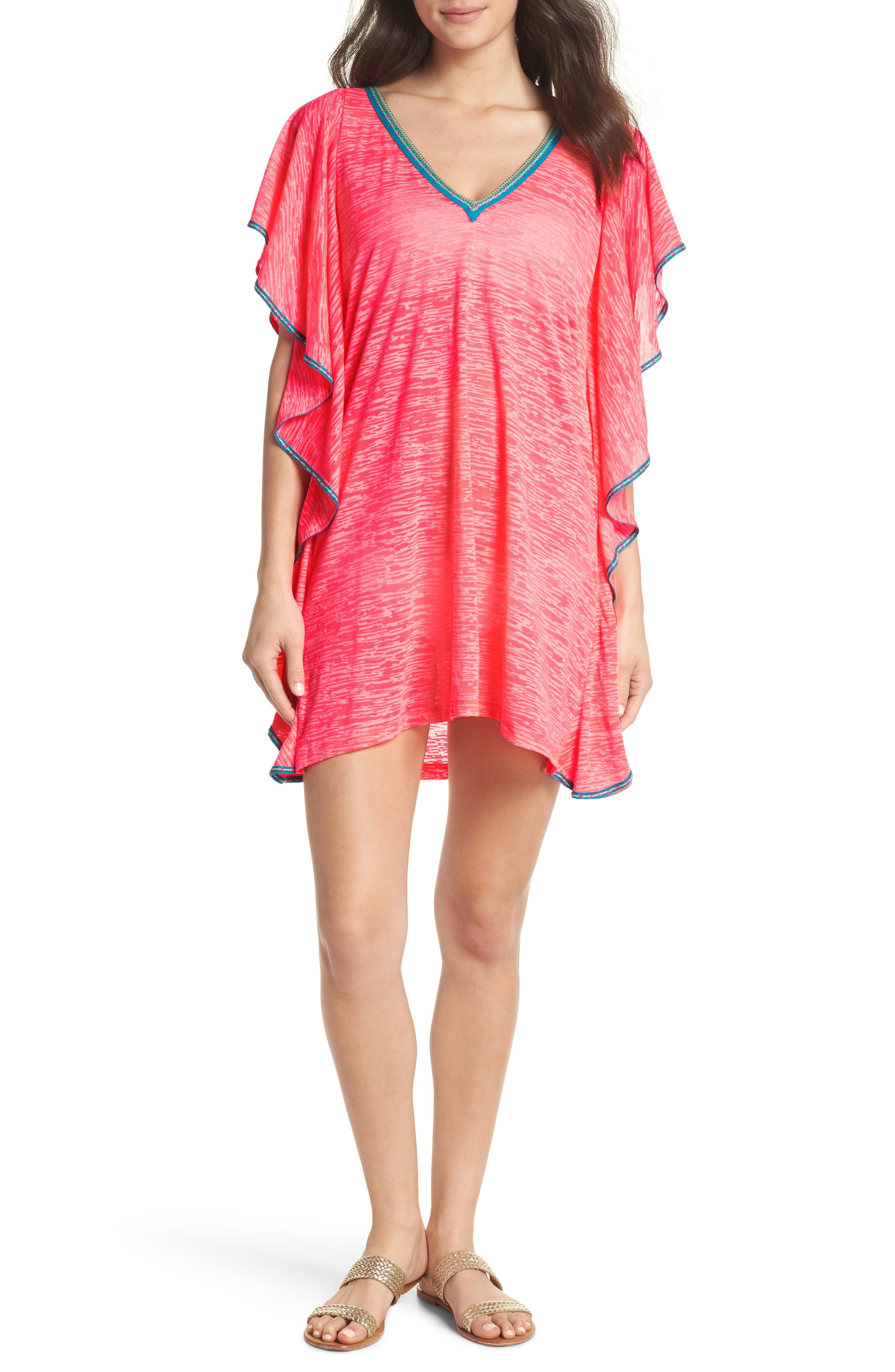 FLARE COVER-UP MINIDRESS
