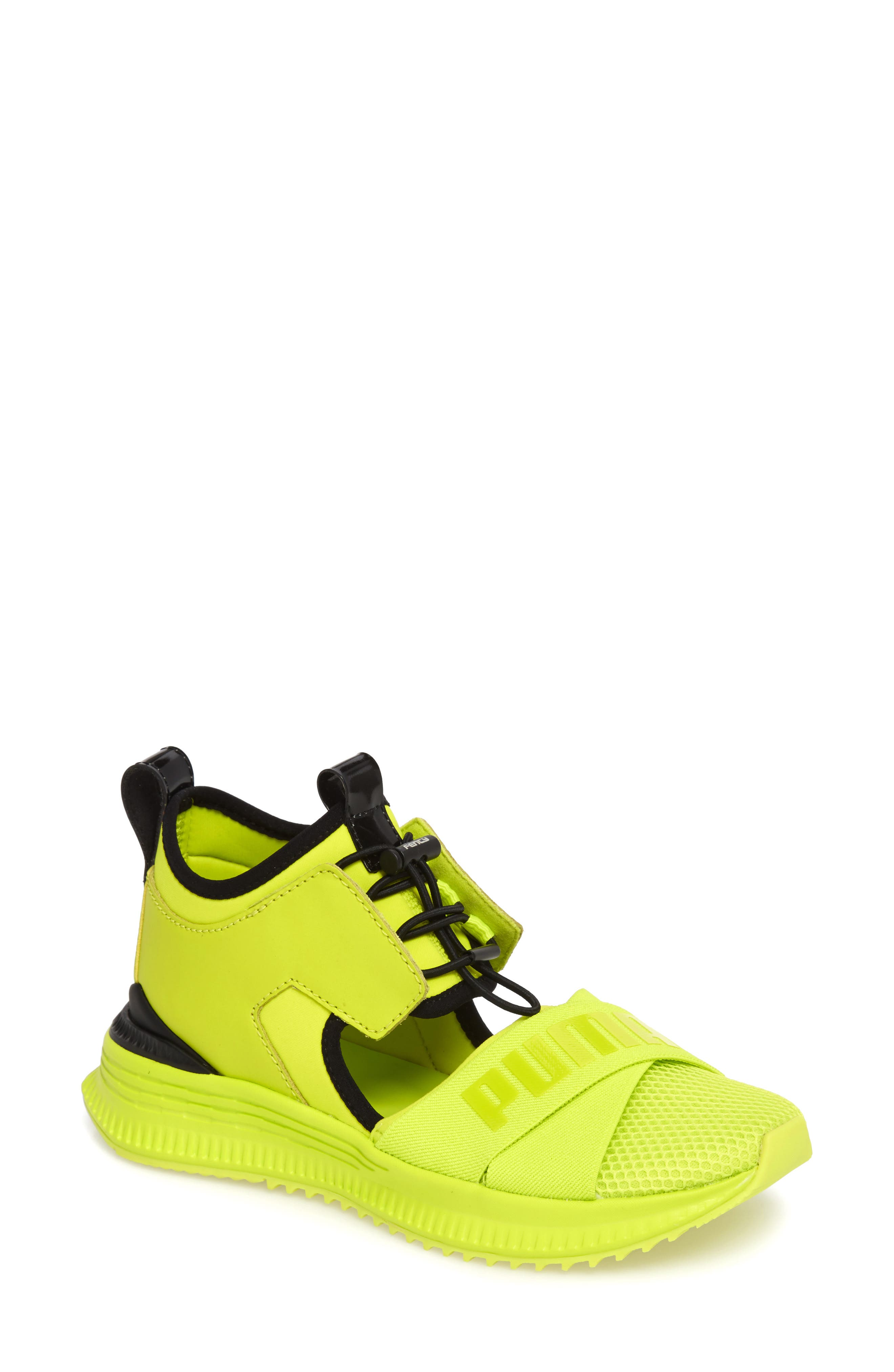 FENTY PUMA by Rihanna Avid Sneaker,                             Main thumbnail 1, color,                             Lime Punch/ Black/ Lime Punch