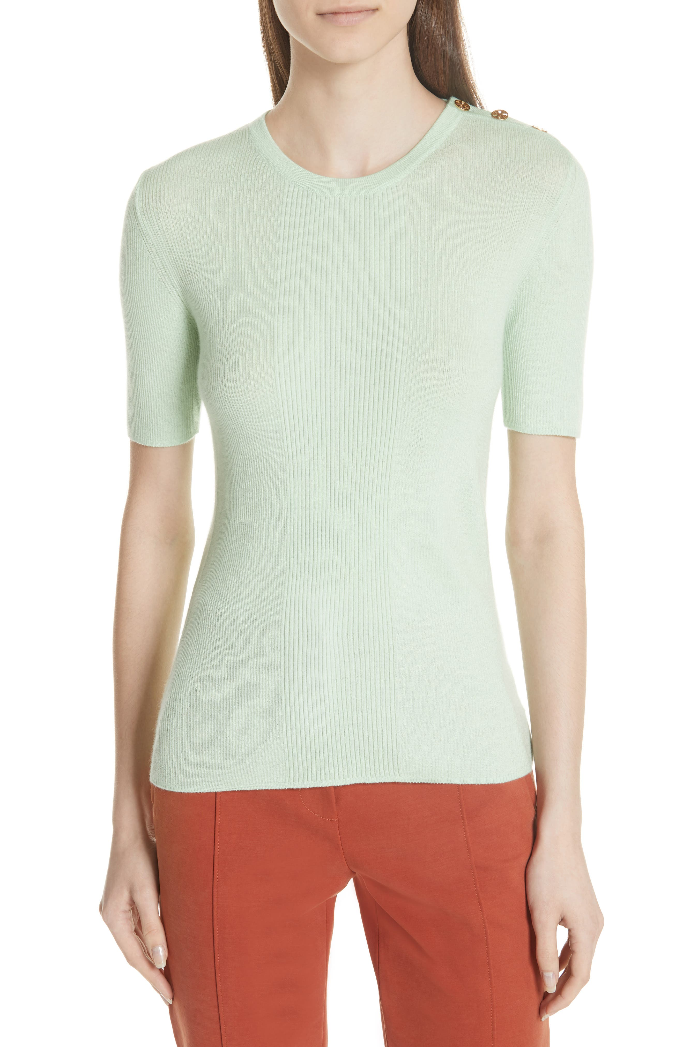 Taylor Ribbed Sweater,                         Main,                         color, Crushed Mint