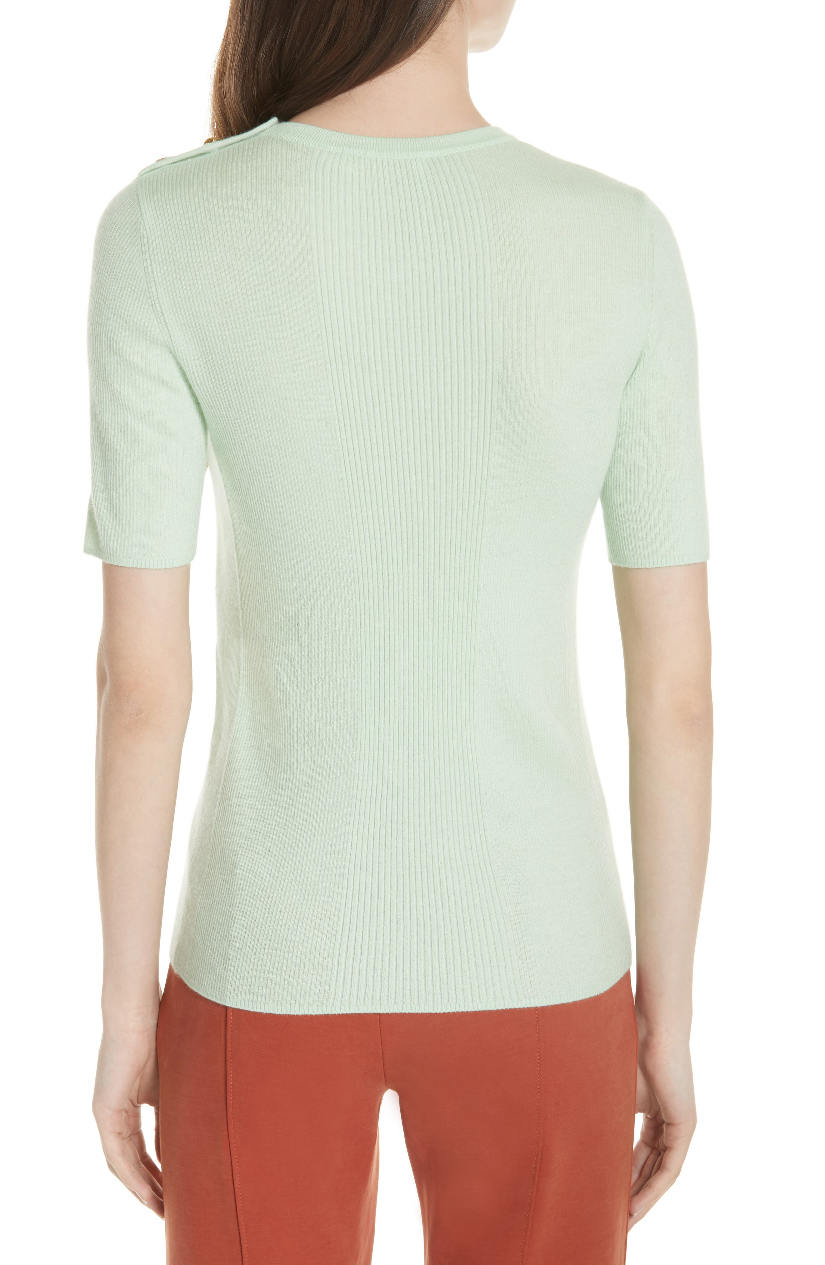 Taylor Ribbed Sweater,                             Alternate thumbnail 2, color,                             Crushed Mint