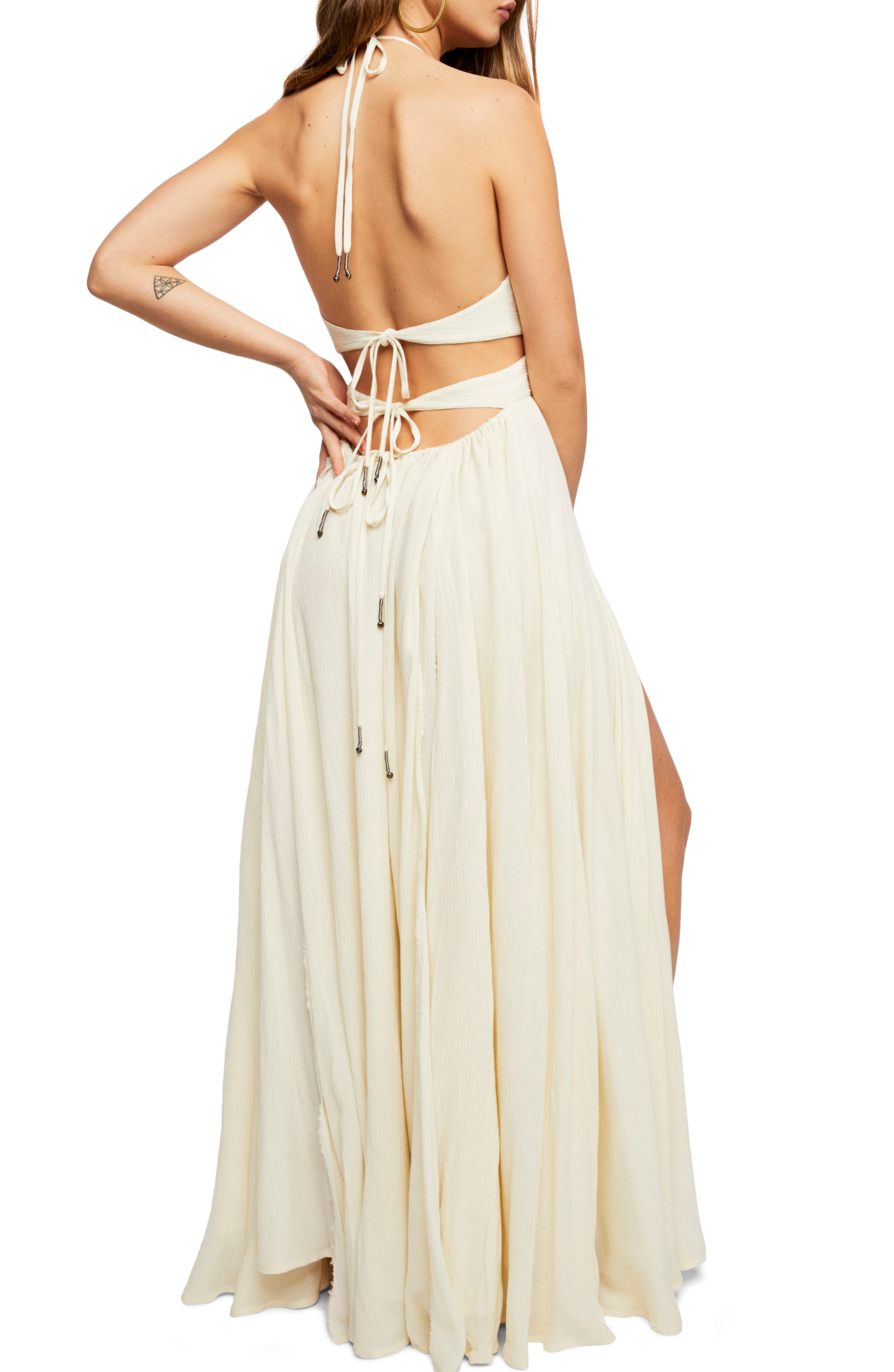 Endless Summer by Free People Lillie Maxi Dress,                             Alternate thumbnail 2, color,                             Canary
