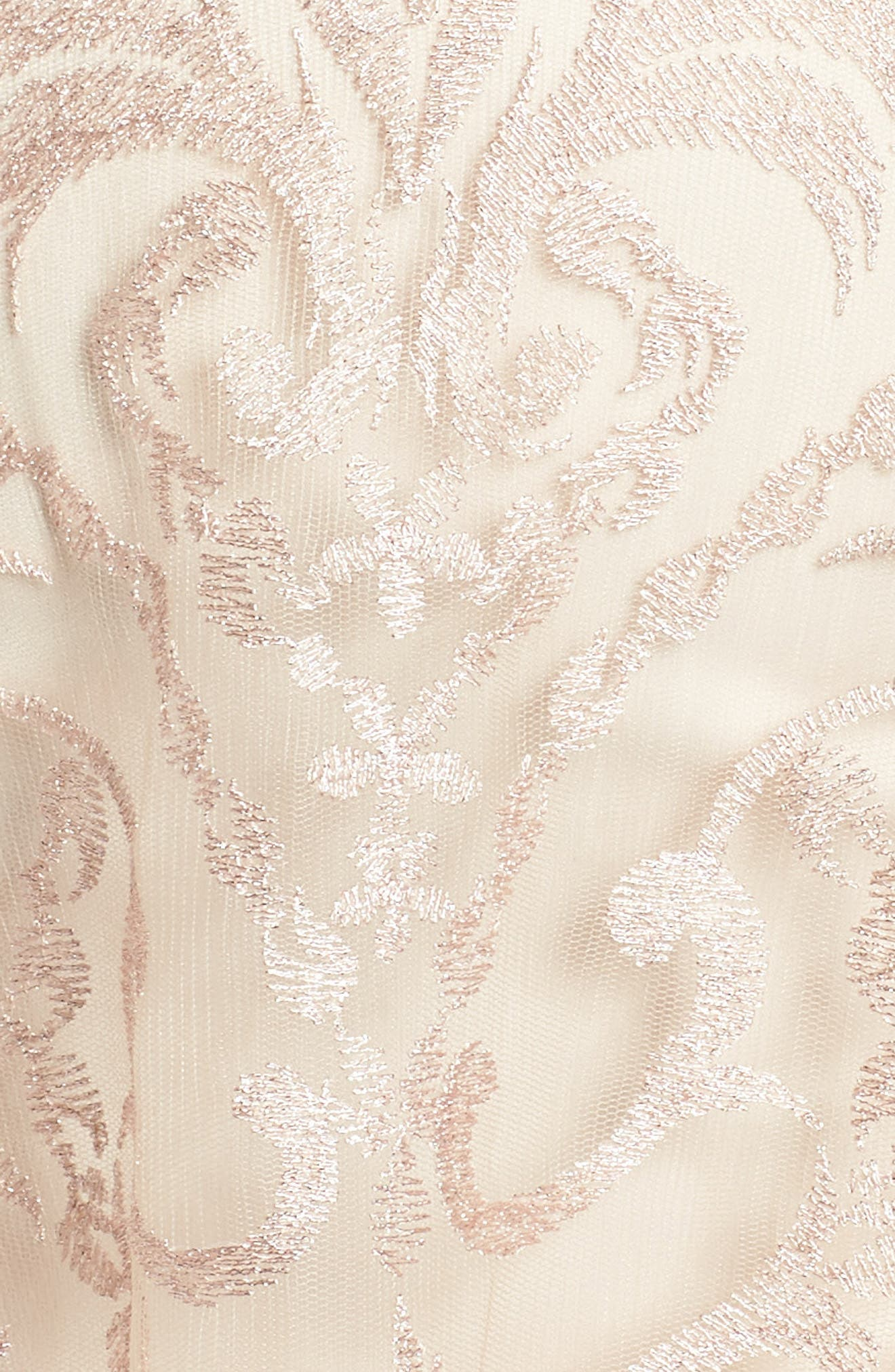 Embroidered Fit & Flare Dress,                             Alternate thumbnail 5, color,                             Blush