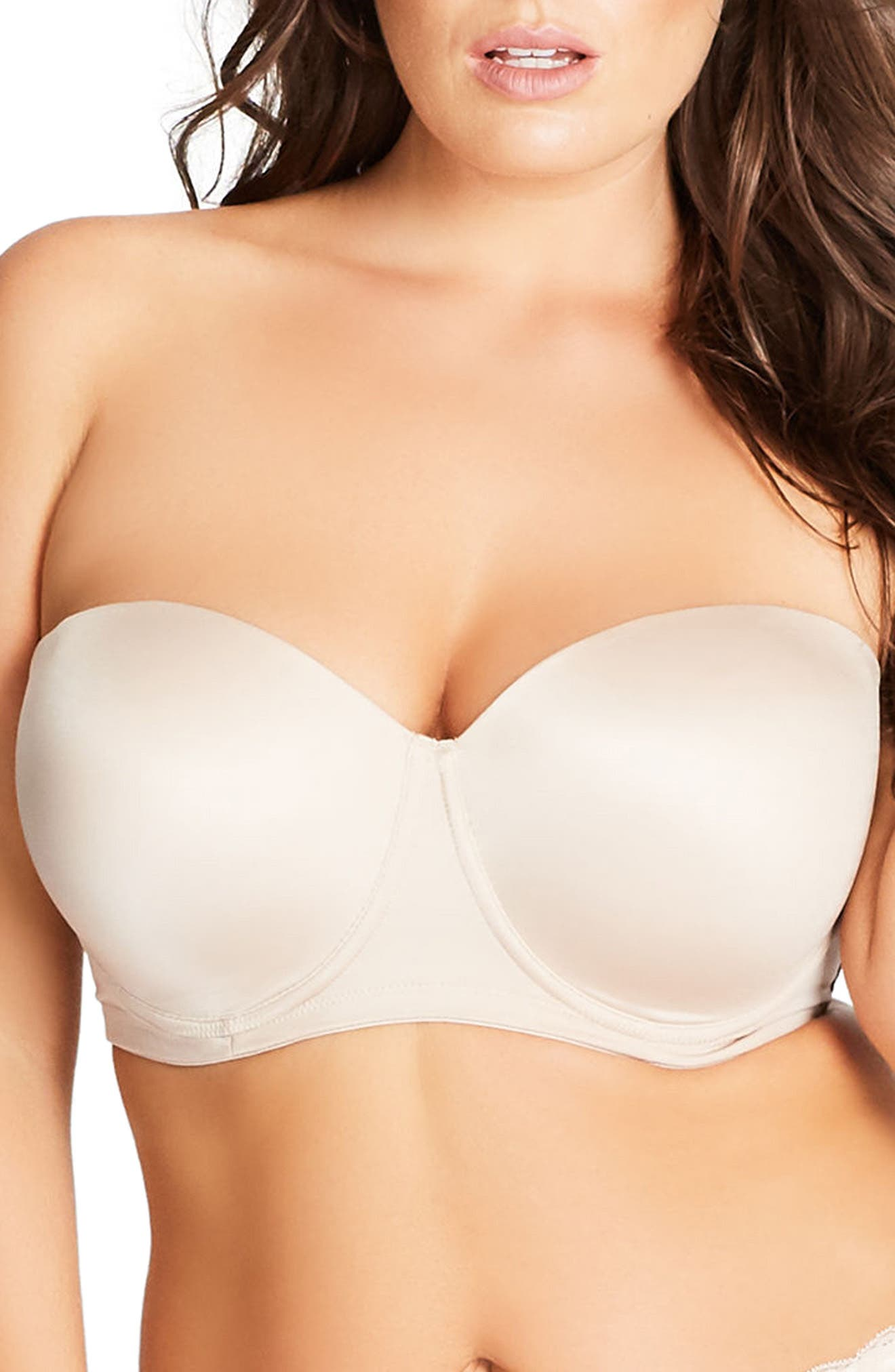 City Chic Adore Strapless Underwire Bra (Plus Size)