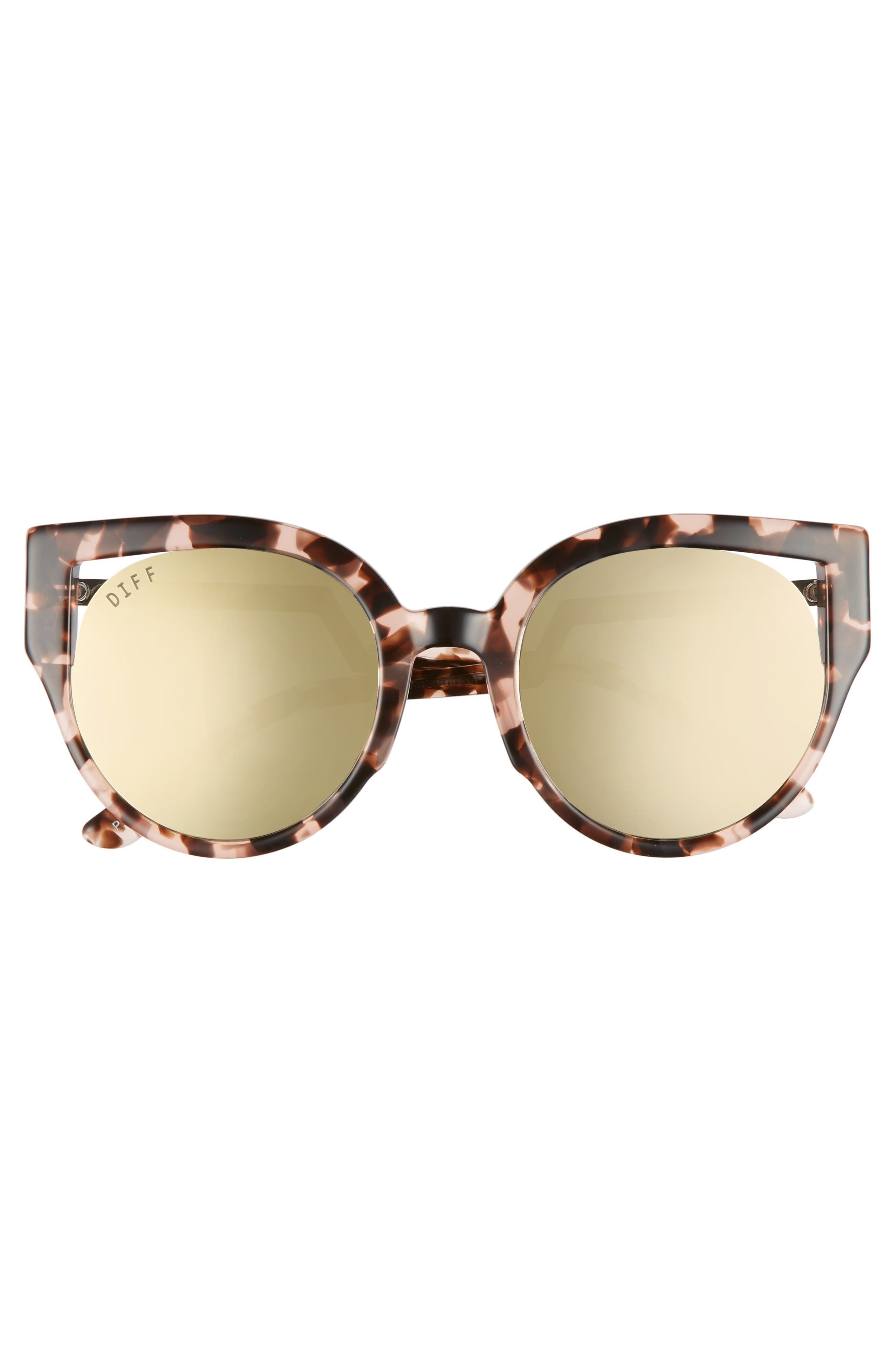 Penny 55mm Cat Eye Sunglasses,                             Alternate thumbnail 3, color,                             Himalayan Tortoise/ Taupe