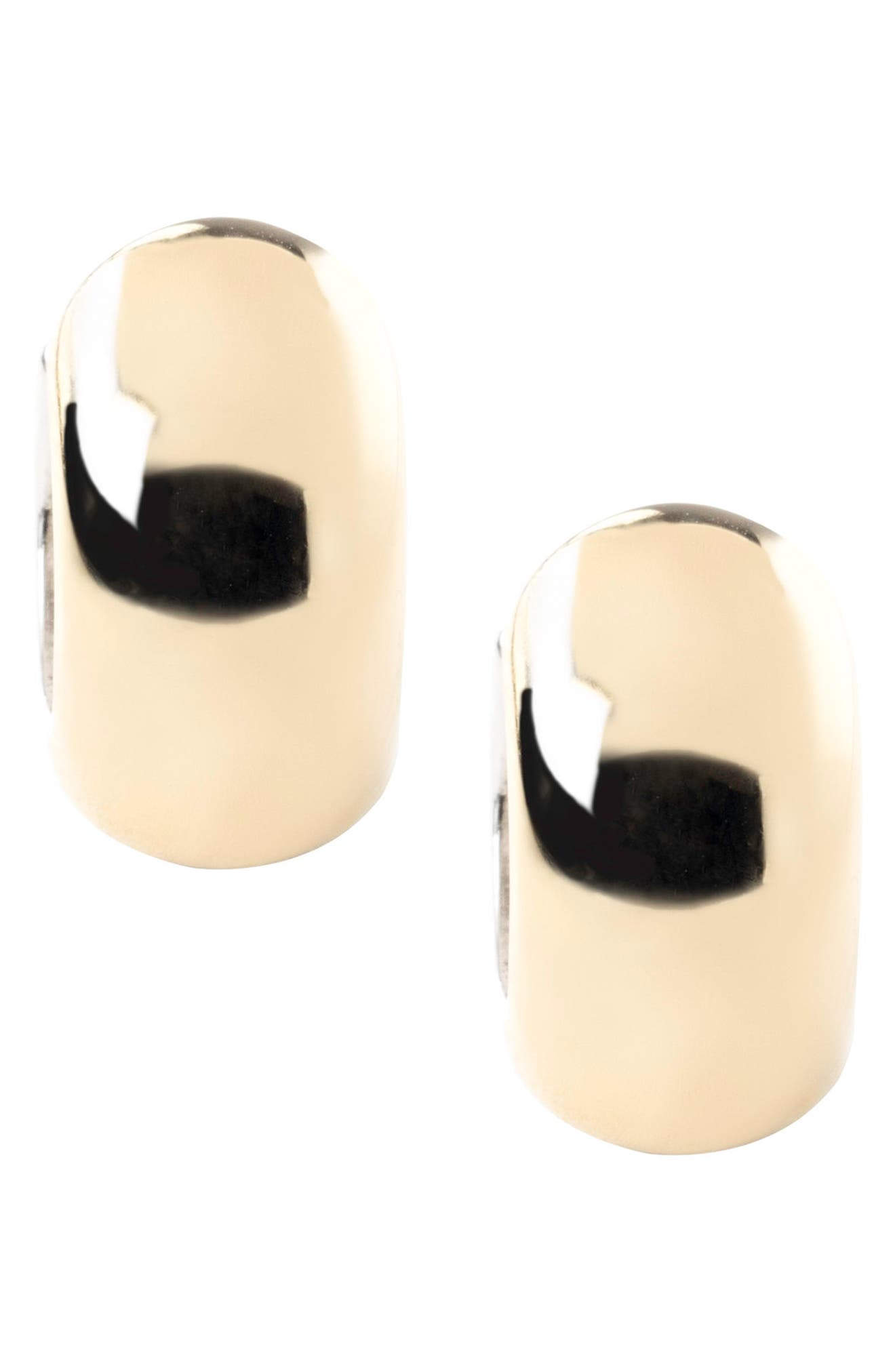 Two-Tone Reversible Hoop Earrings,                             Alternate thumbnail 3, color,                             Silver/ Gold