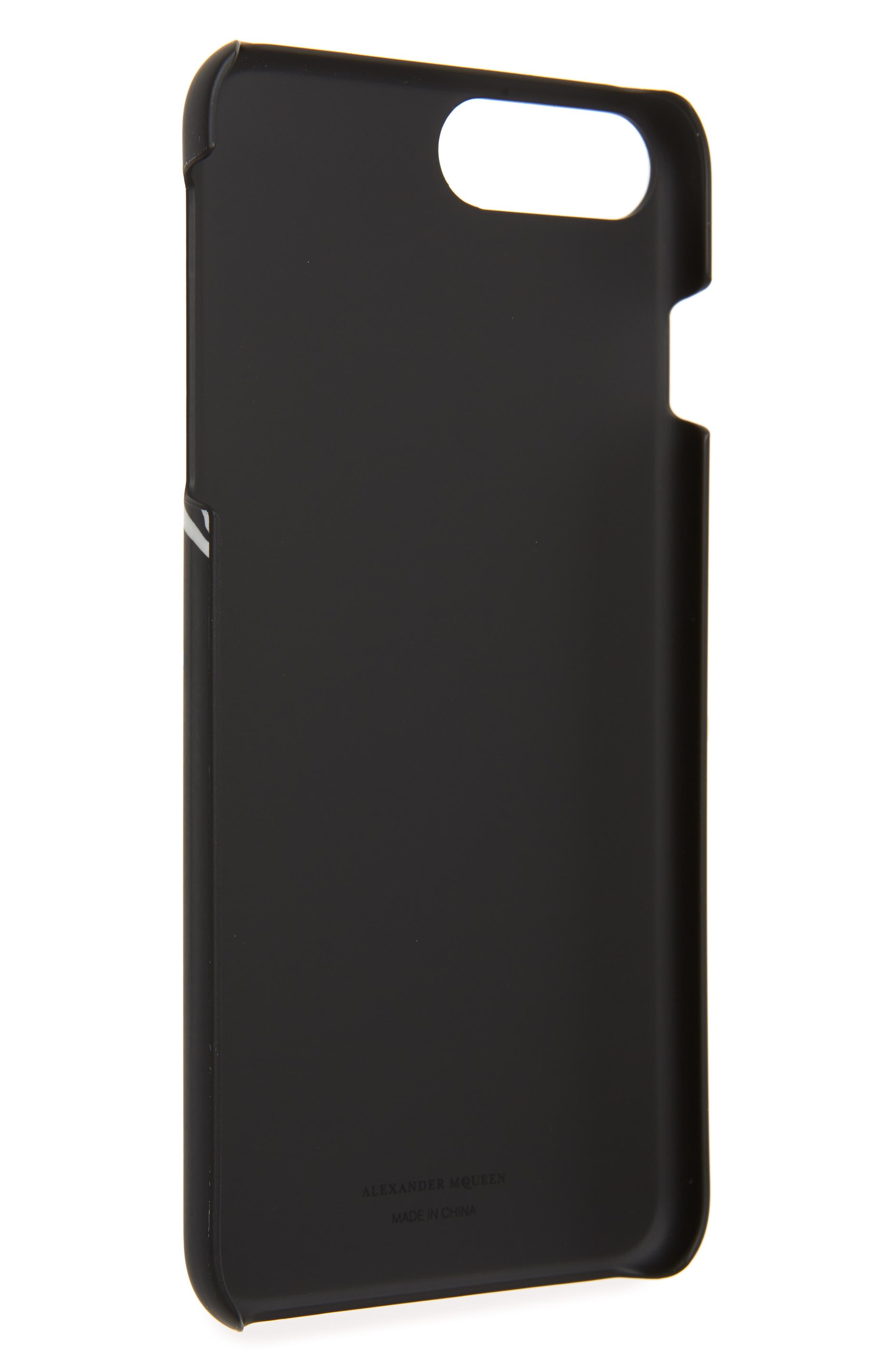 Dancing Skeleton iPhone 8 Plus Case,                             Alternate thumbnail 2, color,                             Black