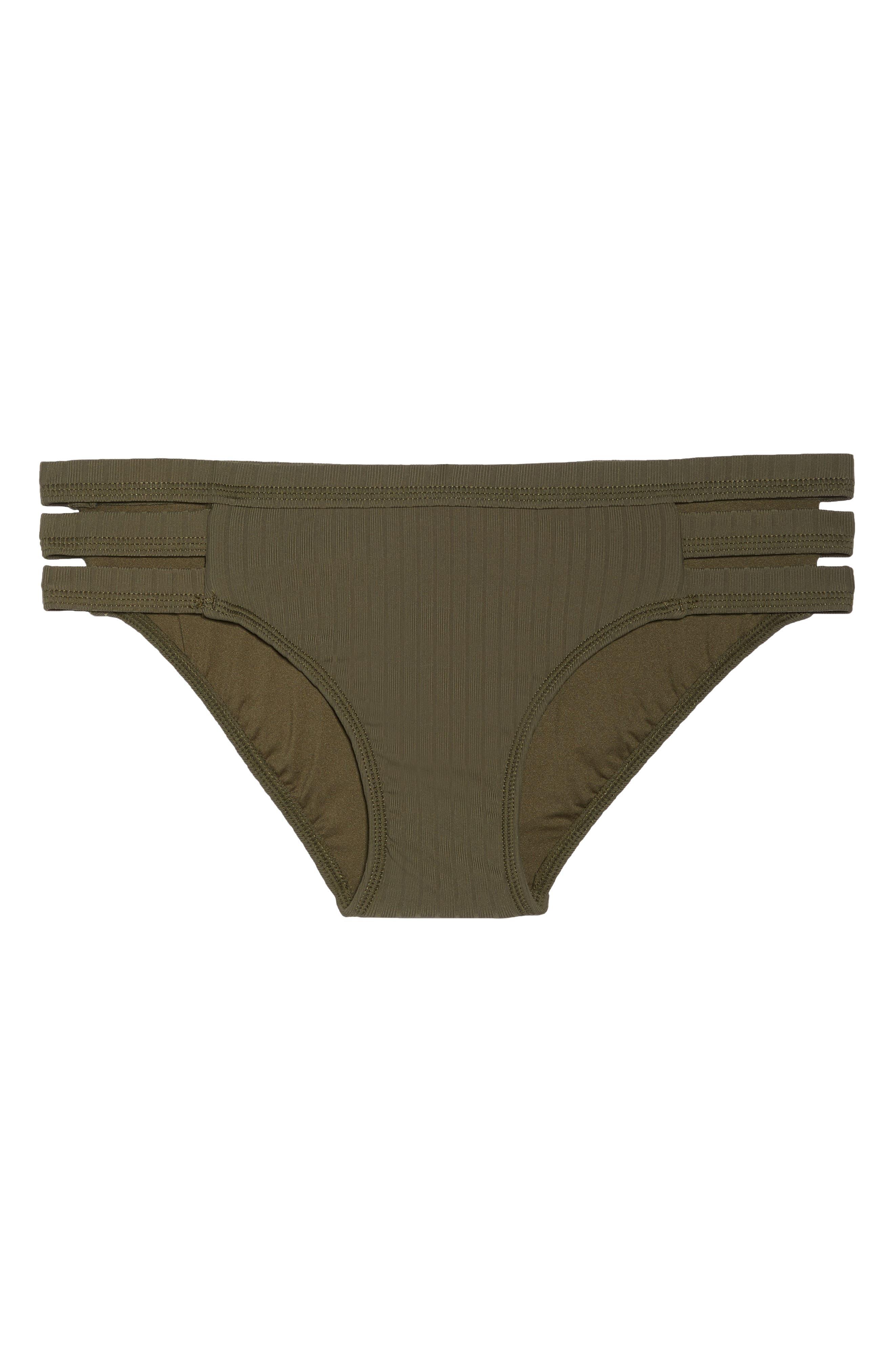 Inka Ribbed Hipster Bikini Bottoms,                             Alternate thumbnail 9, color,                             Dark Olive