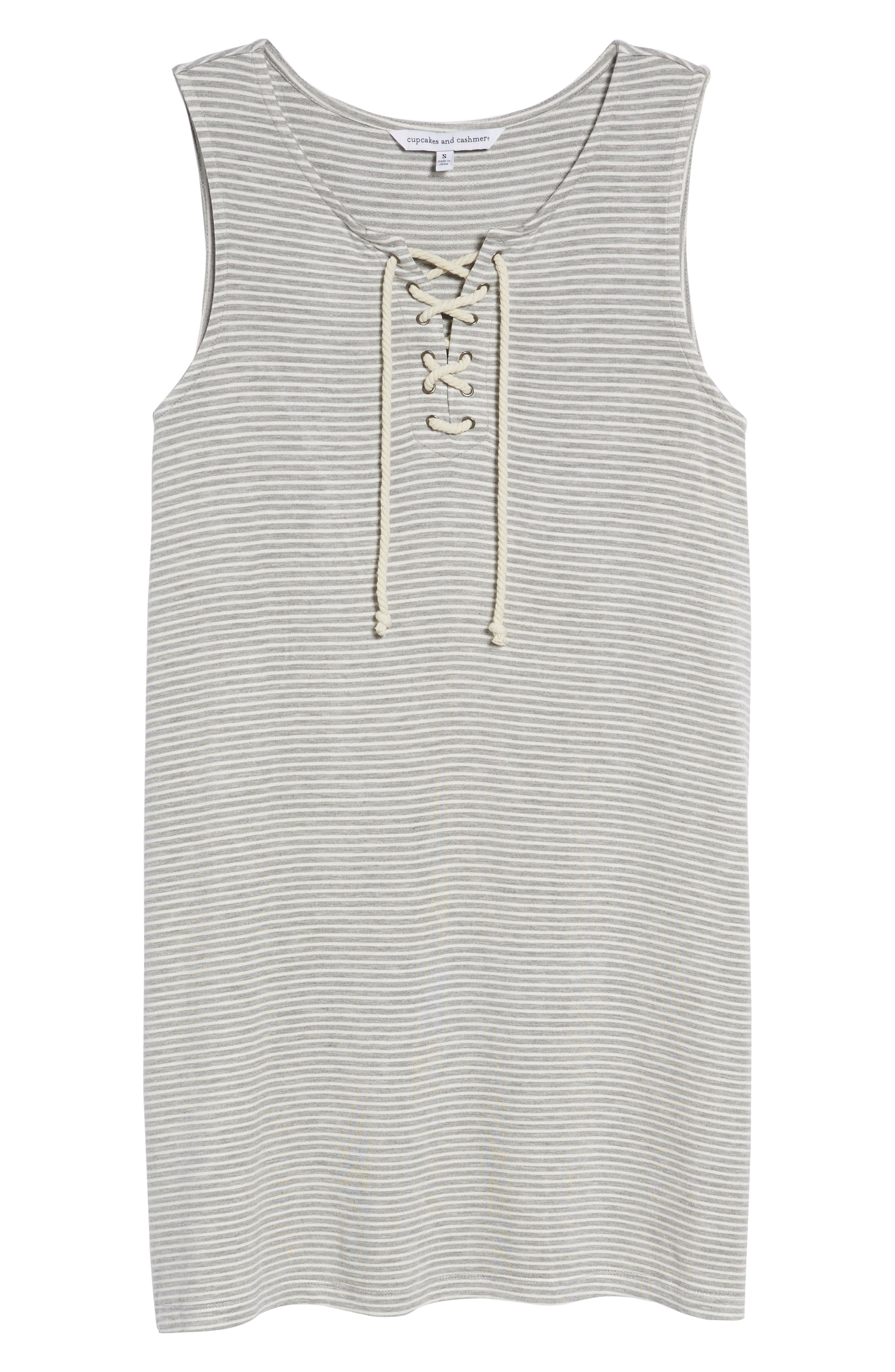 Dedrick Stripe Shift Dress,                             Alternate thumbnail 7, color,                             Light H. Grey