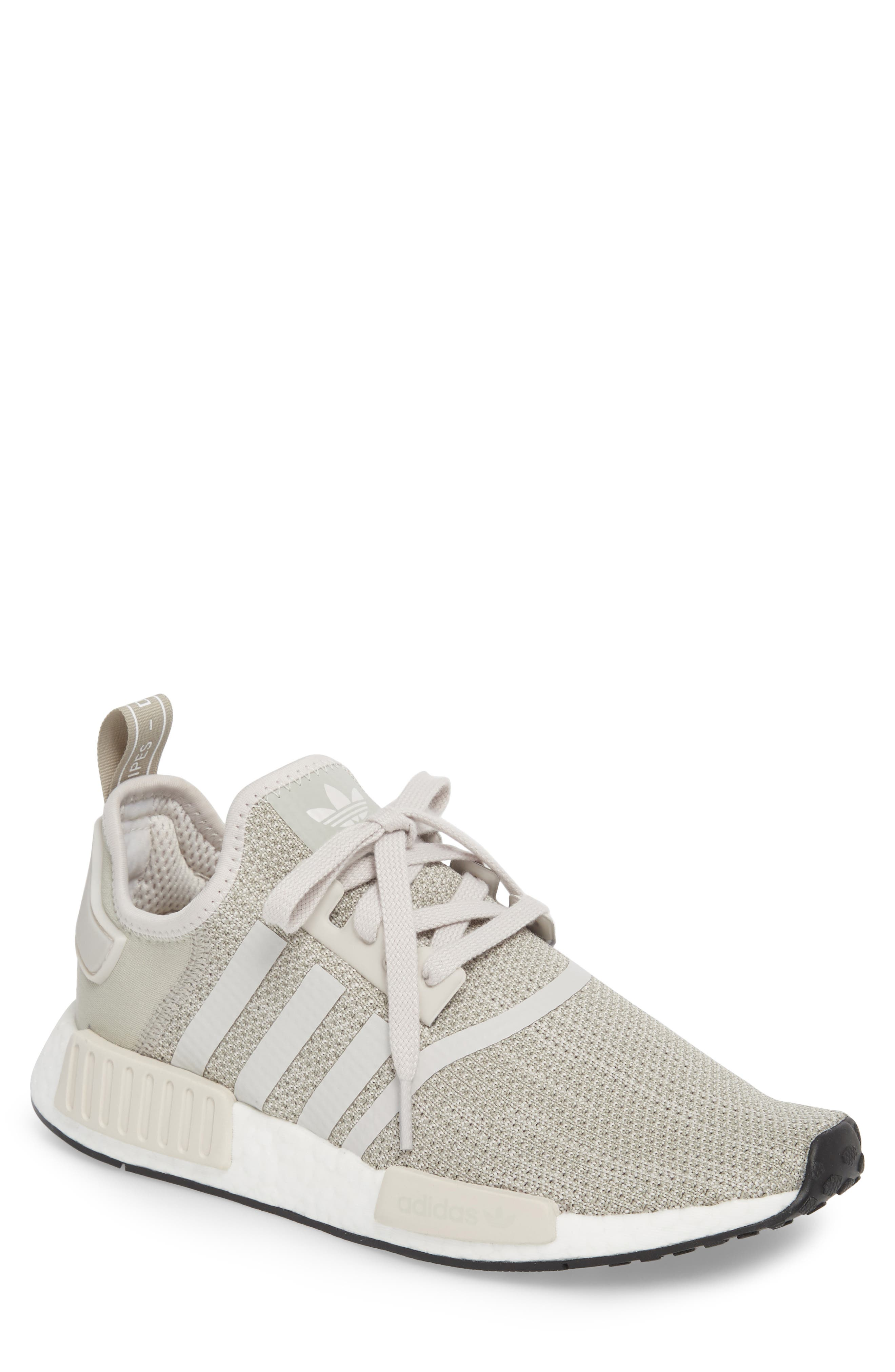 NMD_R1 Sneaker,                             Main thumbnail 1, color,                             Raw Gold/ Tech Beige/ Black