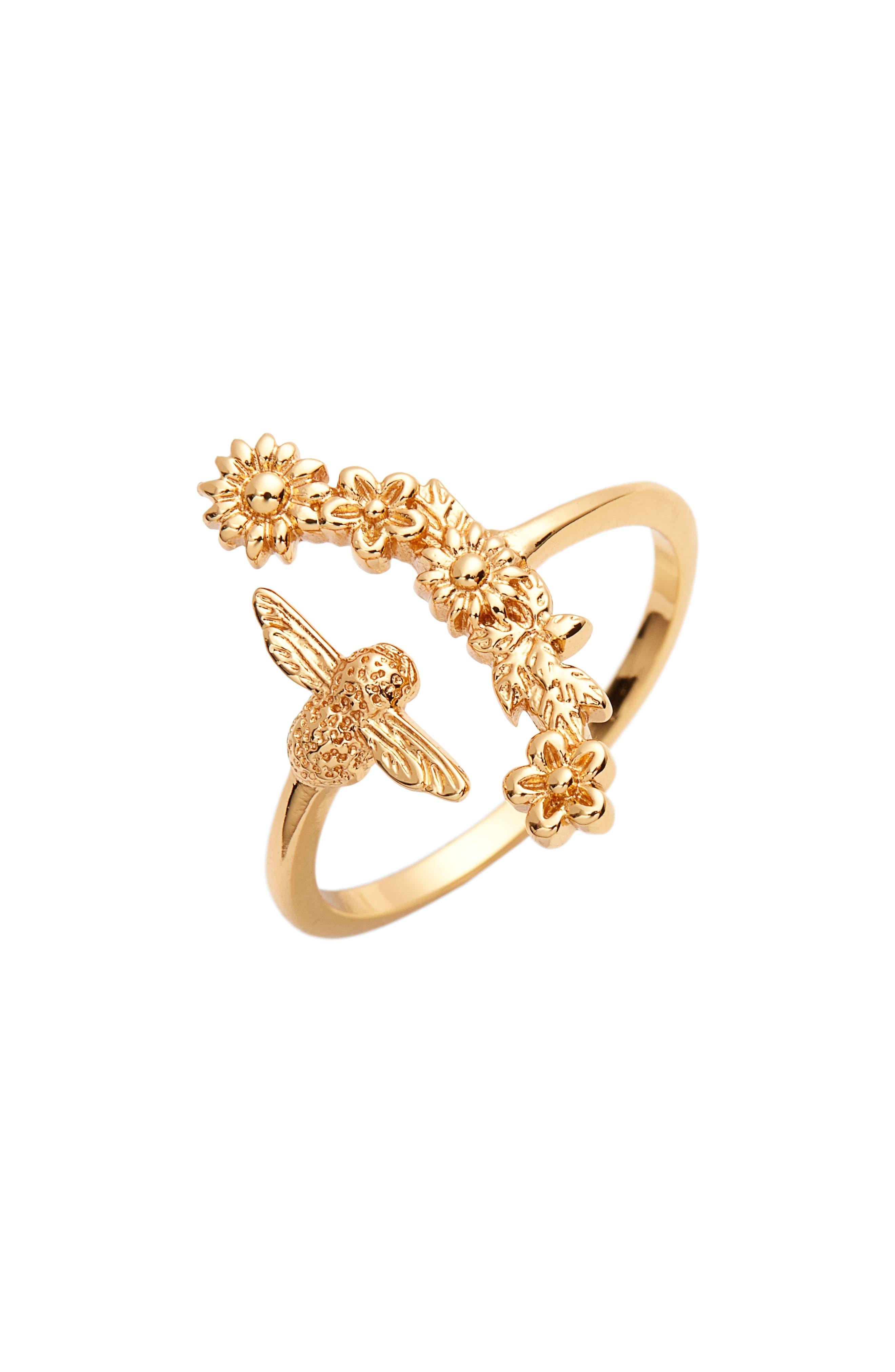 Alternate Image 1 Selected - Olivia Burton Bee Blooms Ring