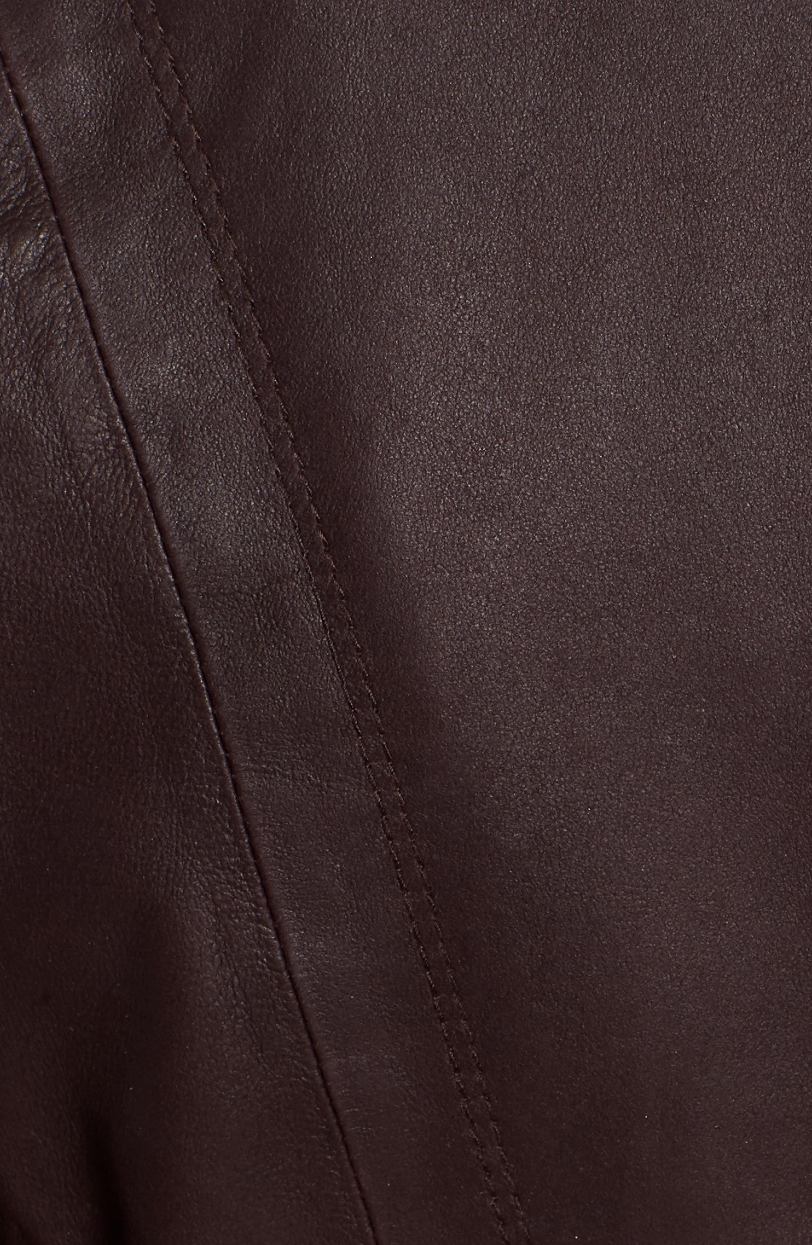 Marc New York by Andrew Marc 'Felix' Stand Collar Leather Jacket,                             Alternate thumbnail 6, color,                             Burgundy