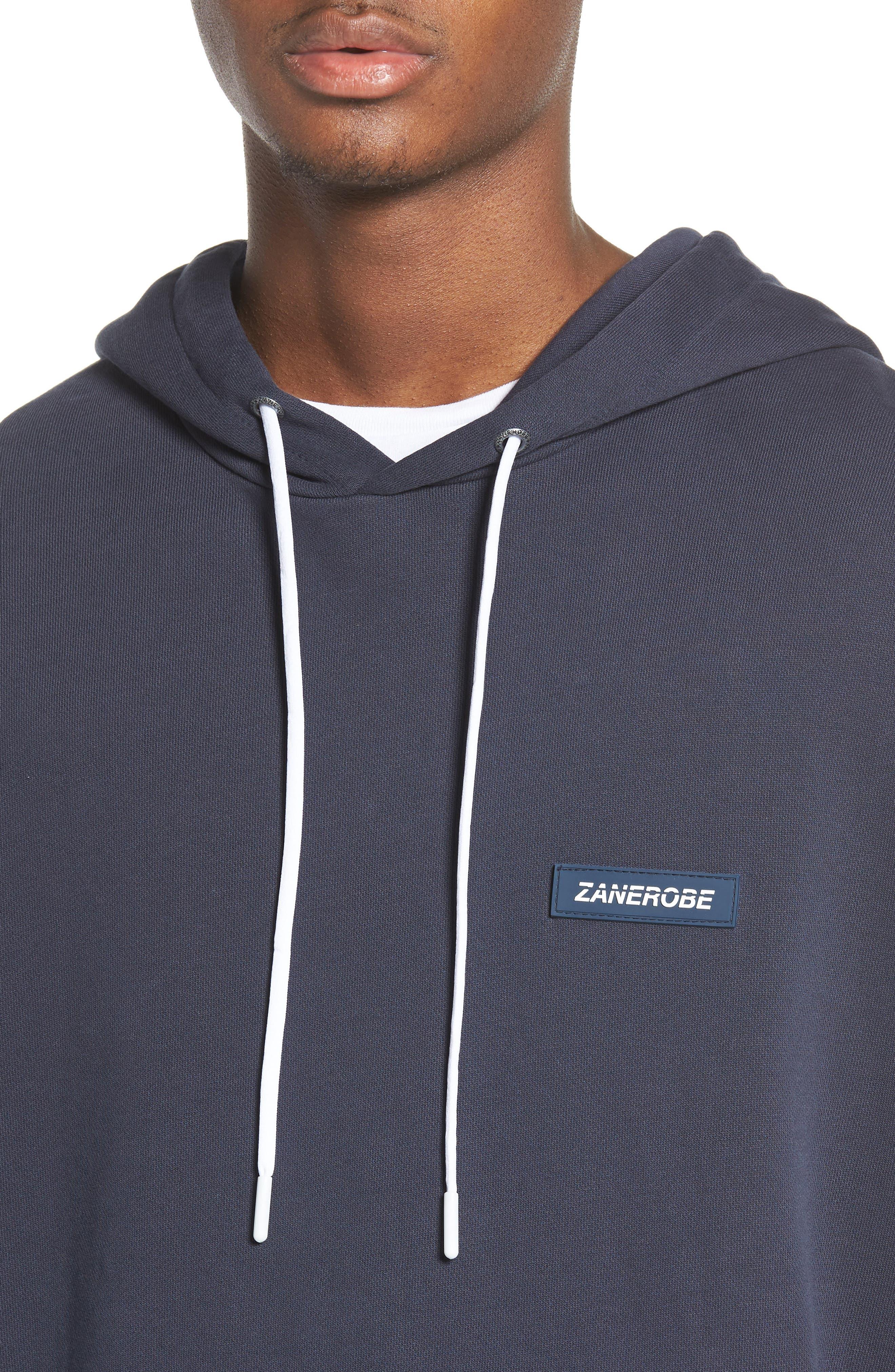 Brand Rugger Hooded Sweatshirt,                             Alternate thumbnail 4, color,                             Duke Blue