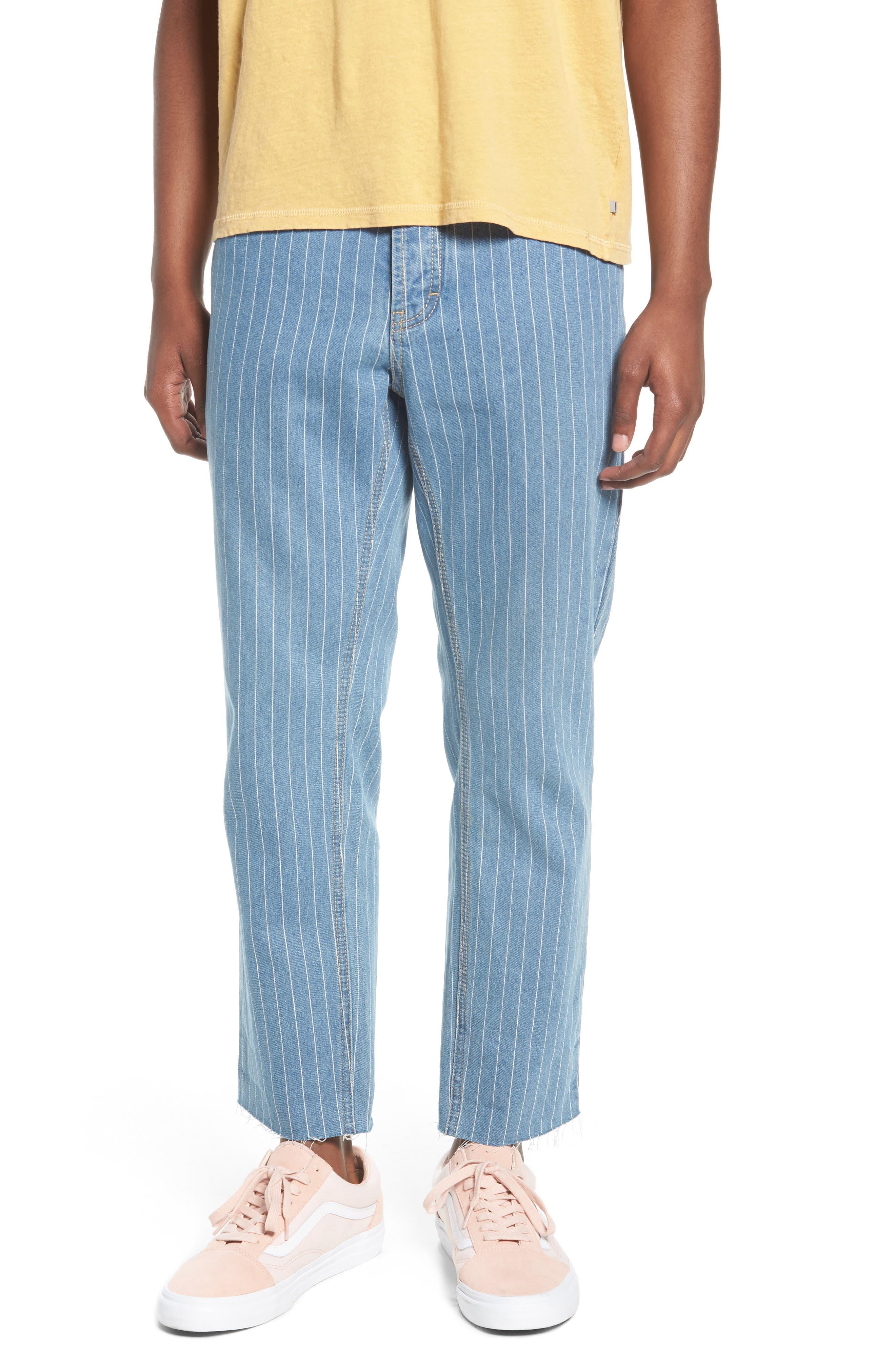 B. Relaxed Jeans,                             Main thumbnail 1, color,                             Stripe Denim Crop
