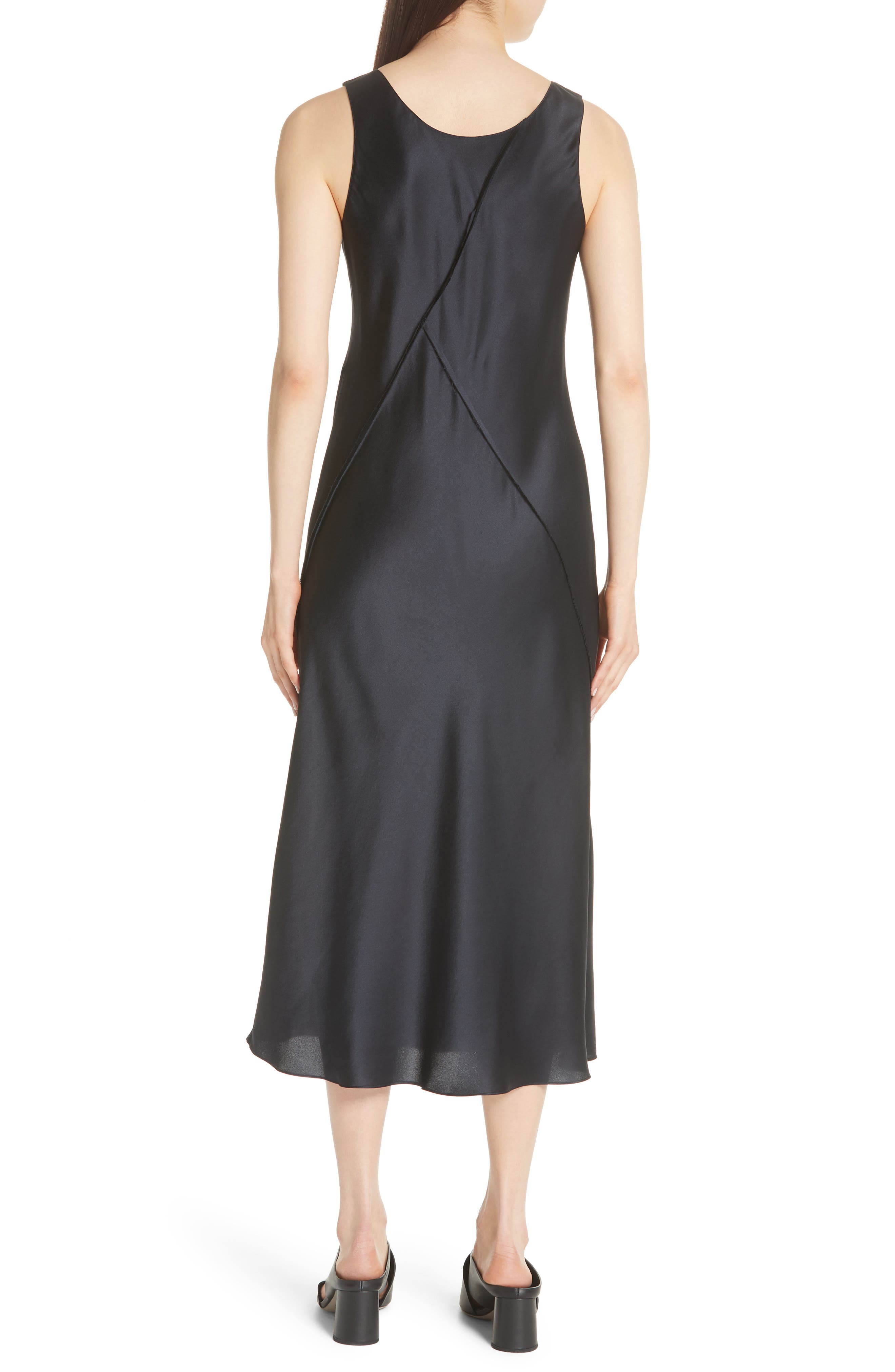 Silk Tank Dress,                             Alternate thumbnail 2, color,                             Iron