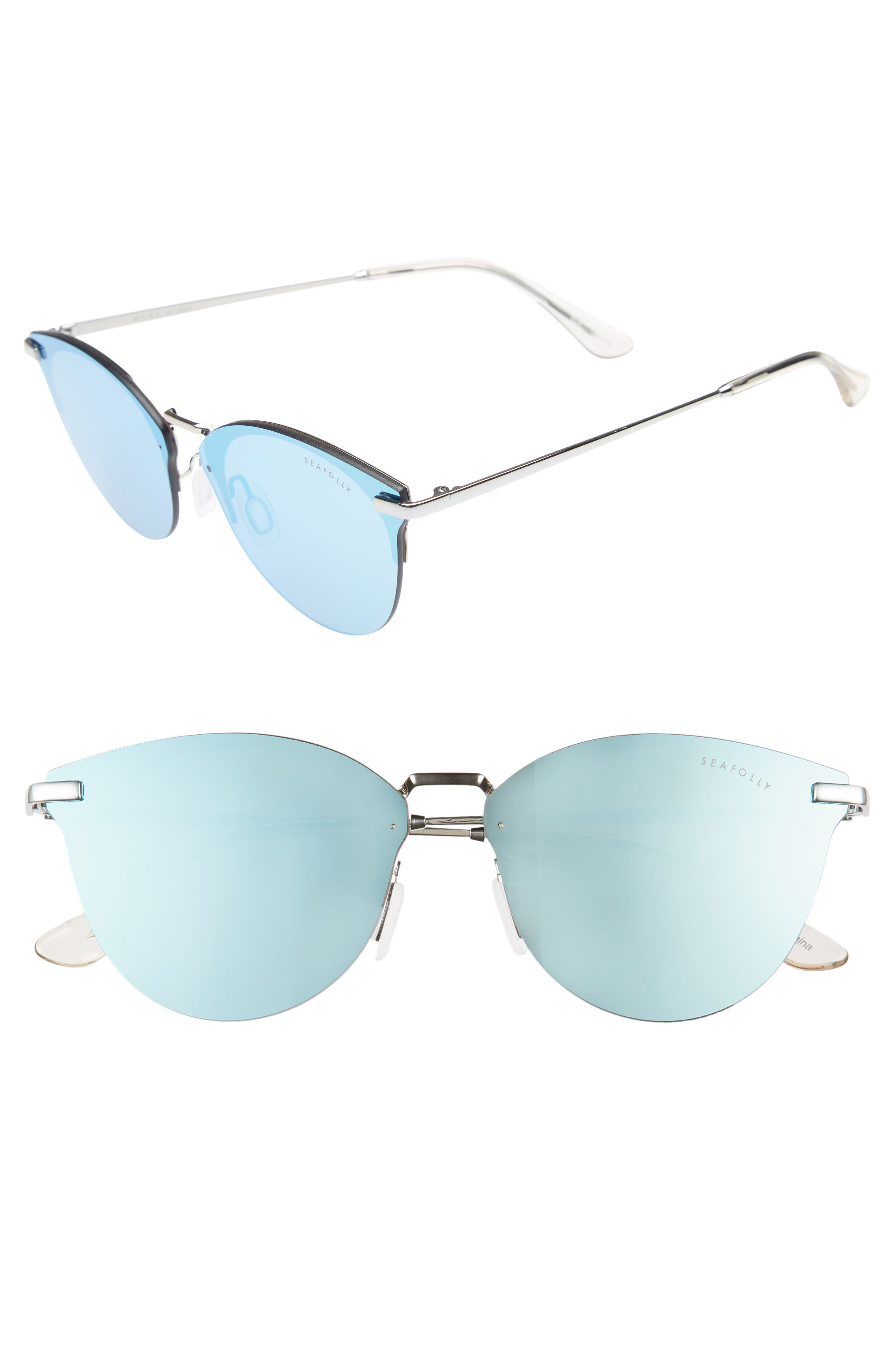 Wylies 50mm Rimless Sunglasses,                         Main,                         color, Ocean