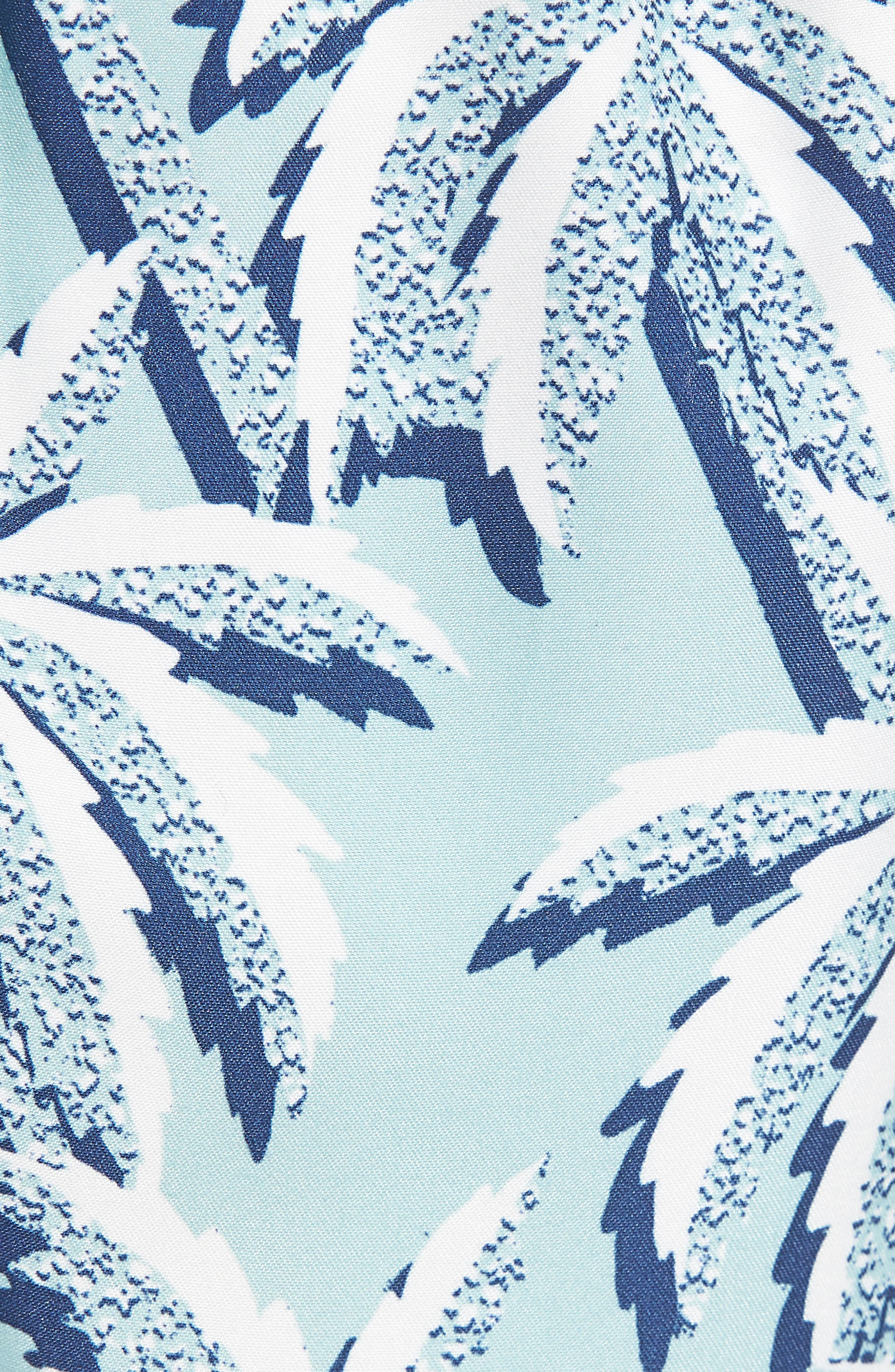 Hoppah Palm Print Swim Shorts,                             Alternate thumbnail 4, color,                             Mint