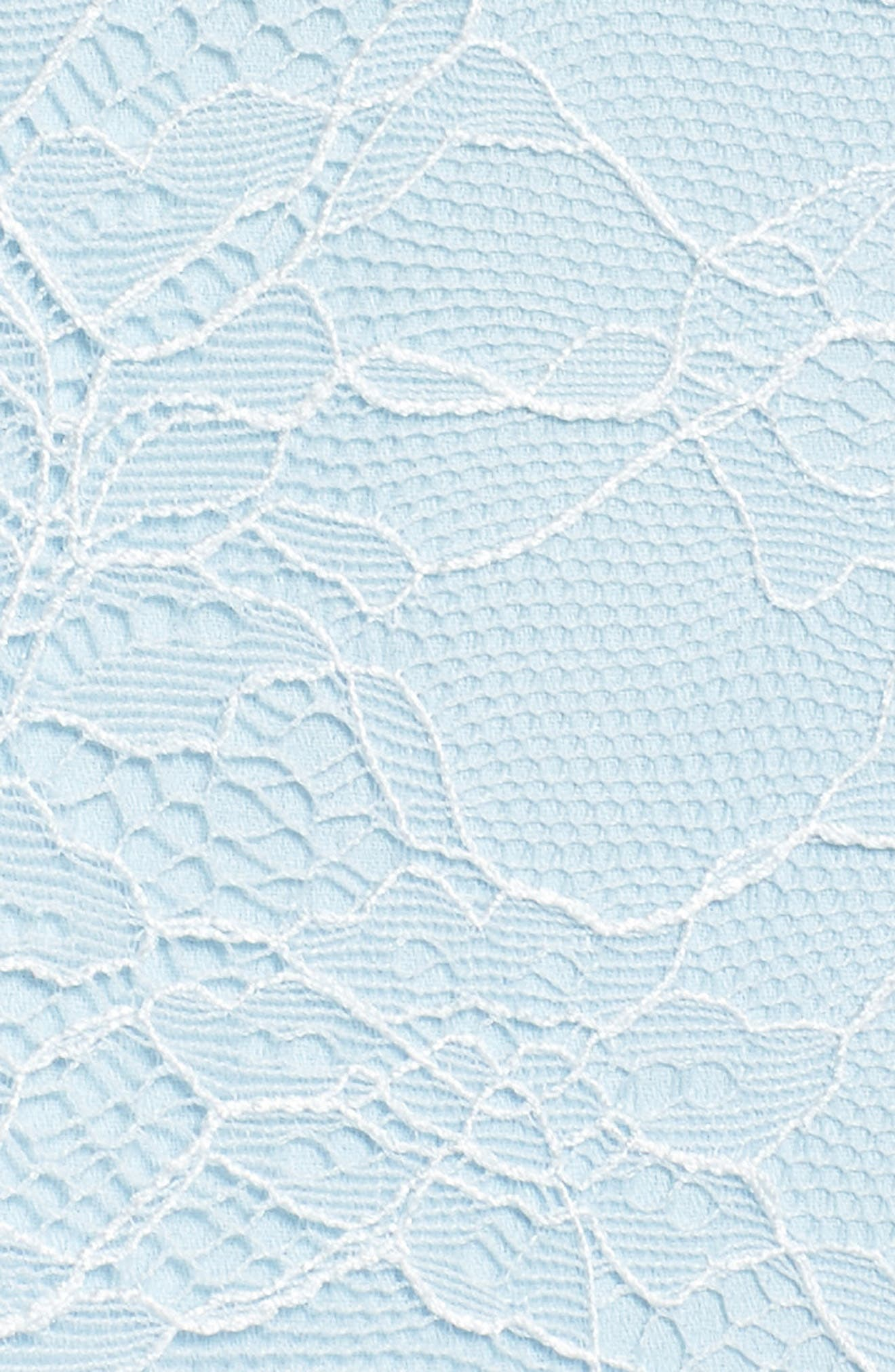 The Adella Lace Gown,                             Alternate thumbnail 5, color,                             Pale Blue