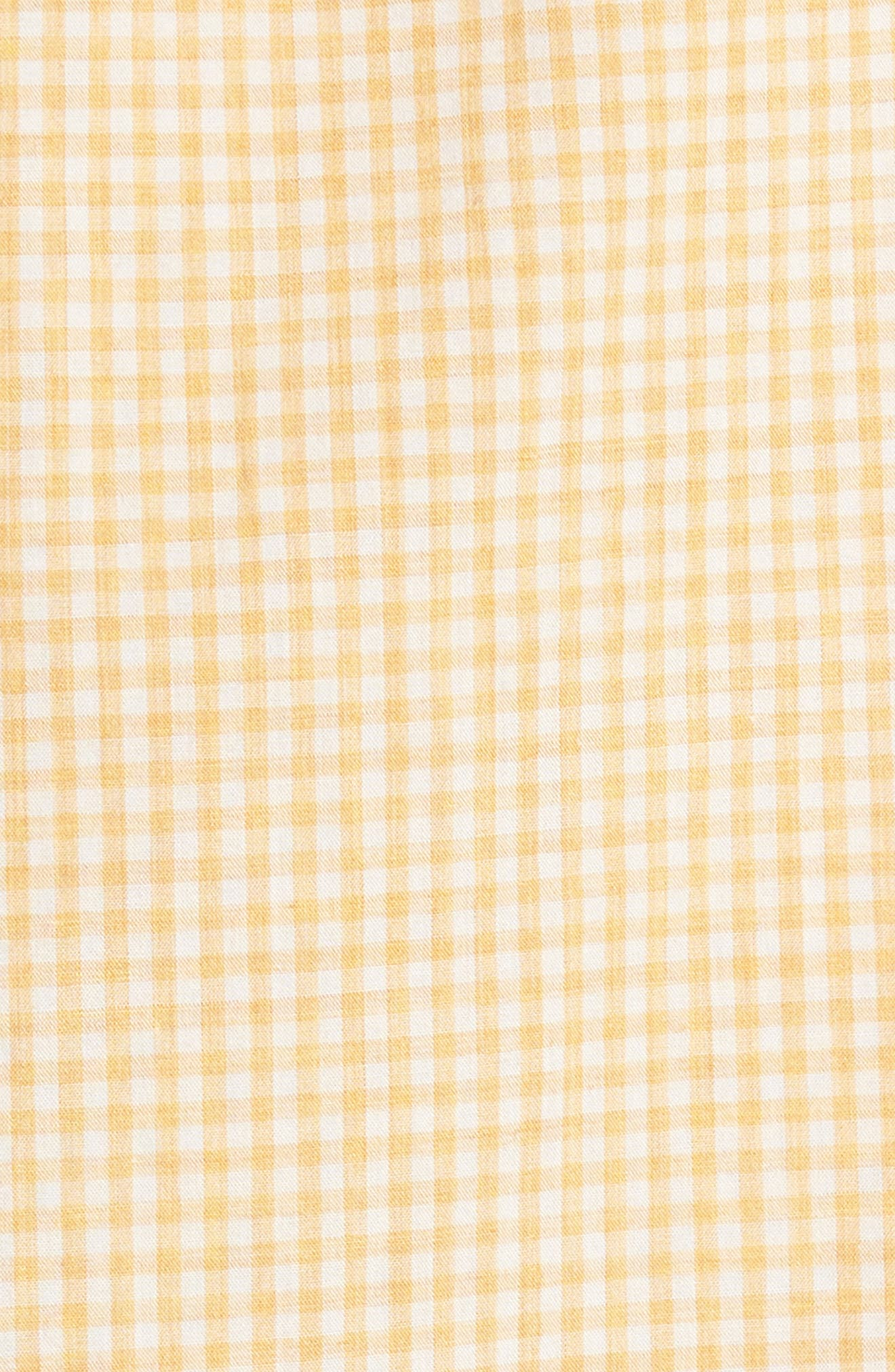 Summerweight Slim Fit Gingham Sport Shirt,                             Alternate thumbnail 3, color,                             Heathered - Heather Gold