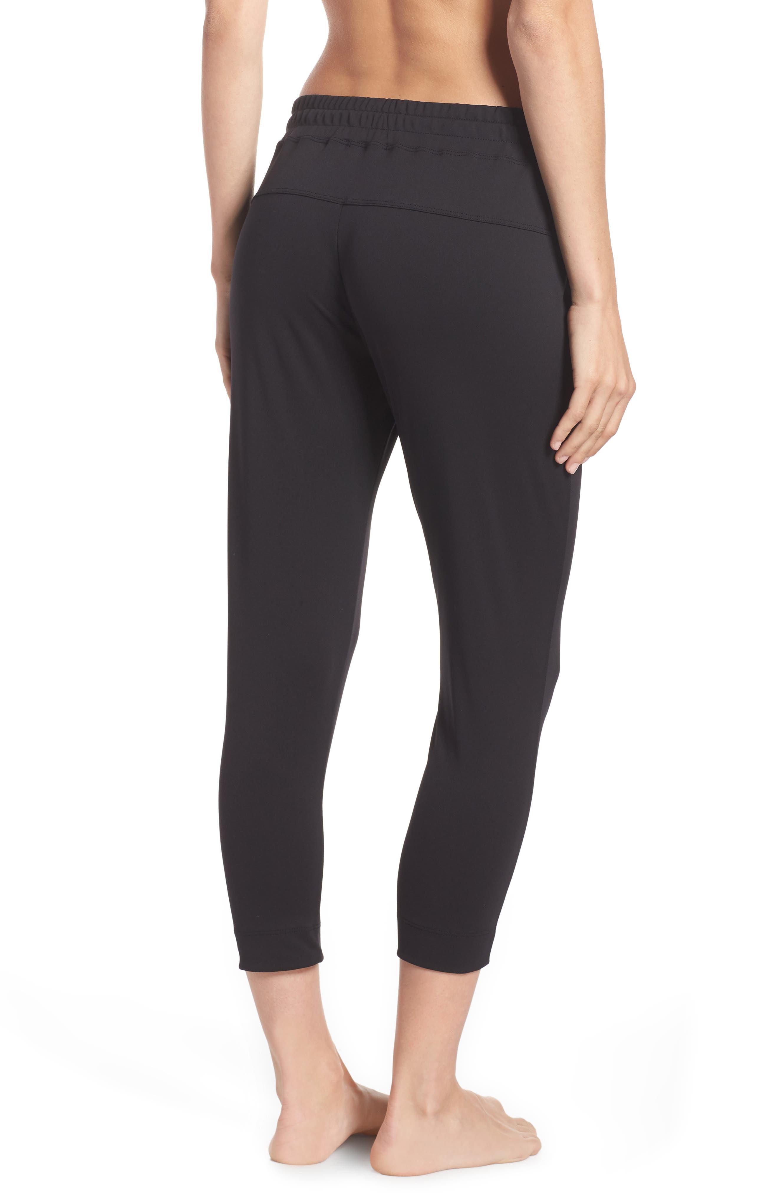 Mica Crop Track Pants,                             Alternate thumbnail 2, color,                             Black