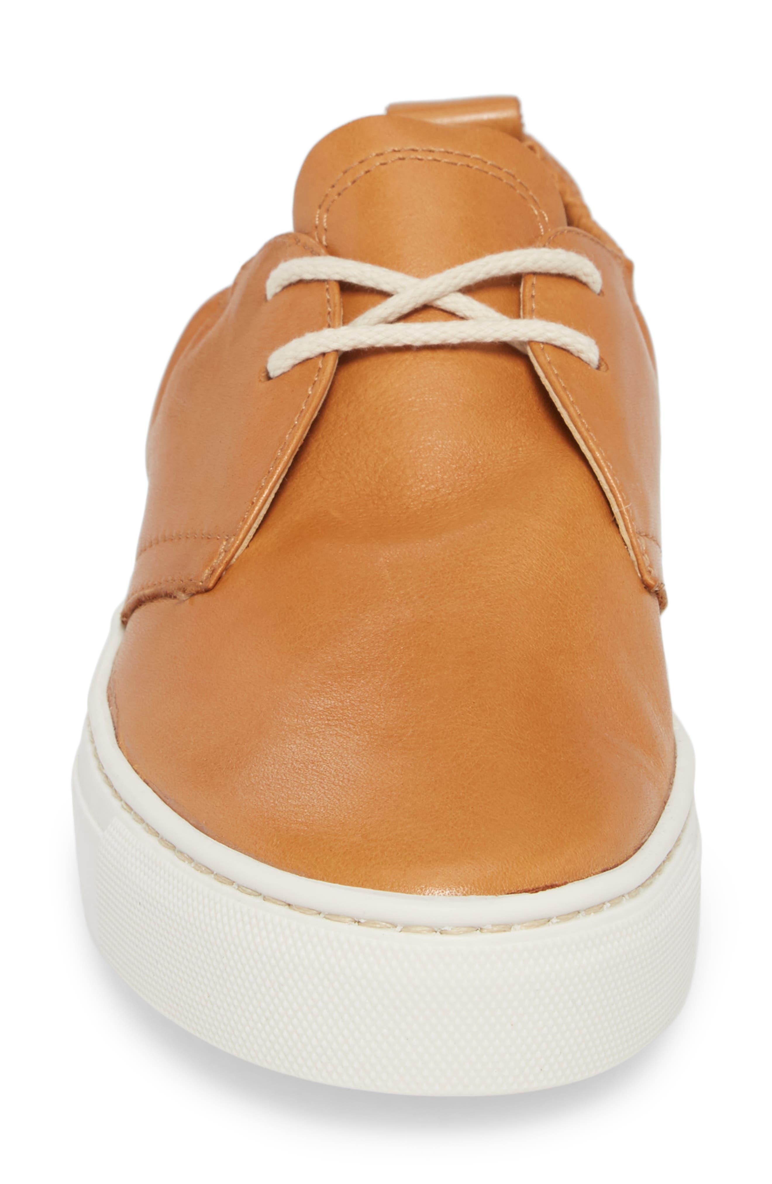 Sneak Up Sneaker,                             Alternate thumbnail 4, color,                             Cognac Leather