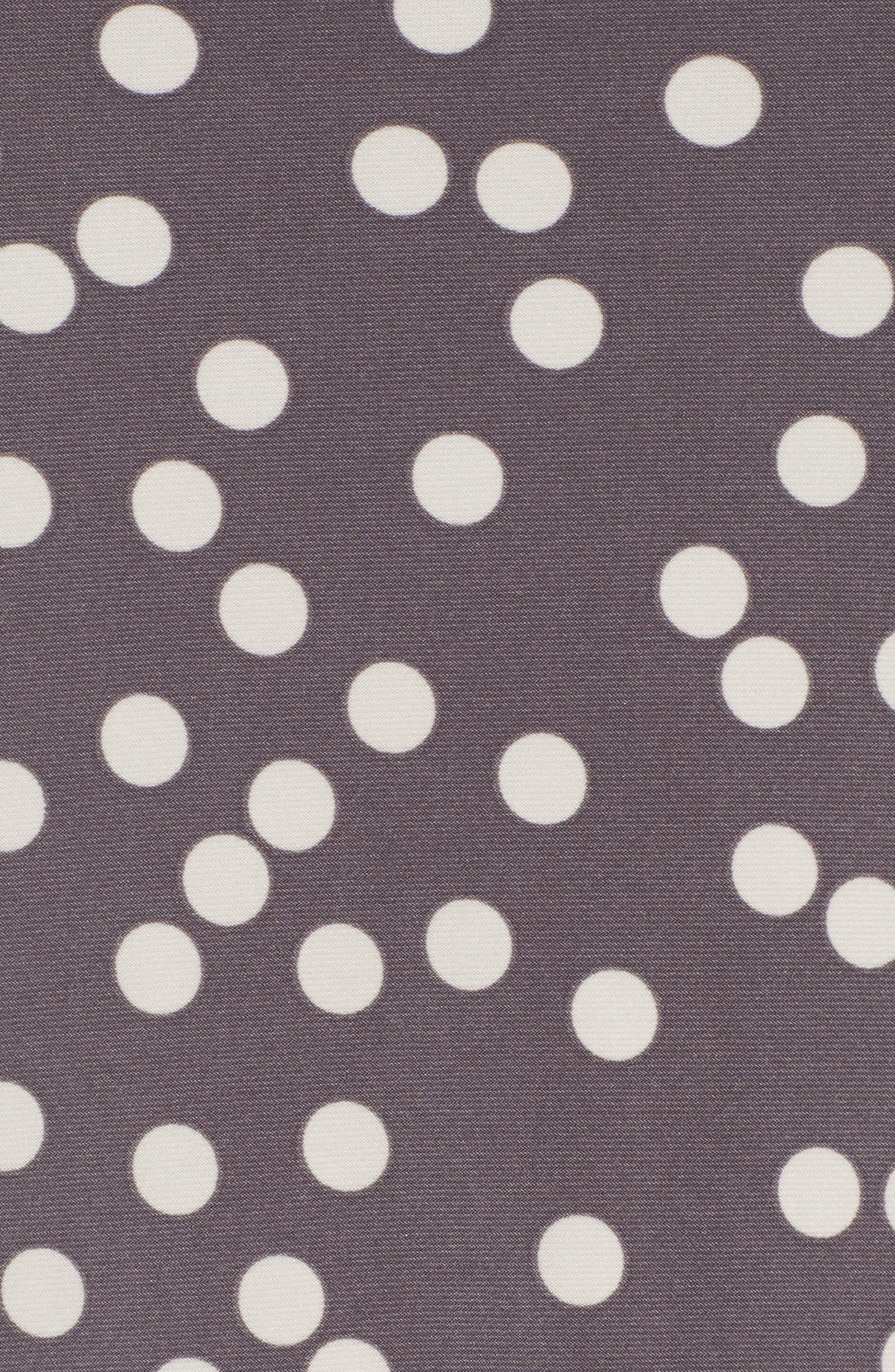 Dot Print Swing Dress,                             Alternate thumbnail 6, color,                             Nantucket Grey/ Oyster Shell