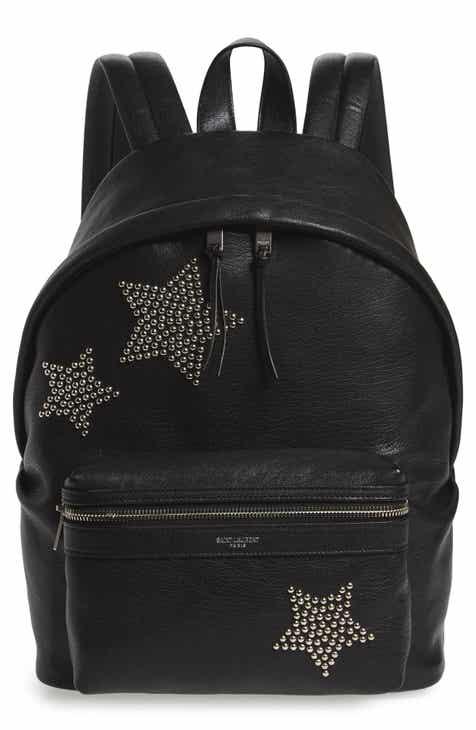 3fdec7f42de2f Saint Laurent Mini City Stars Leather Backpack