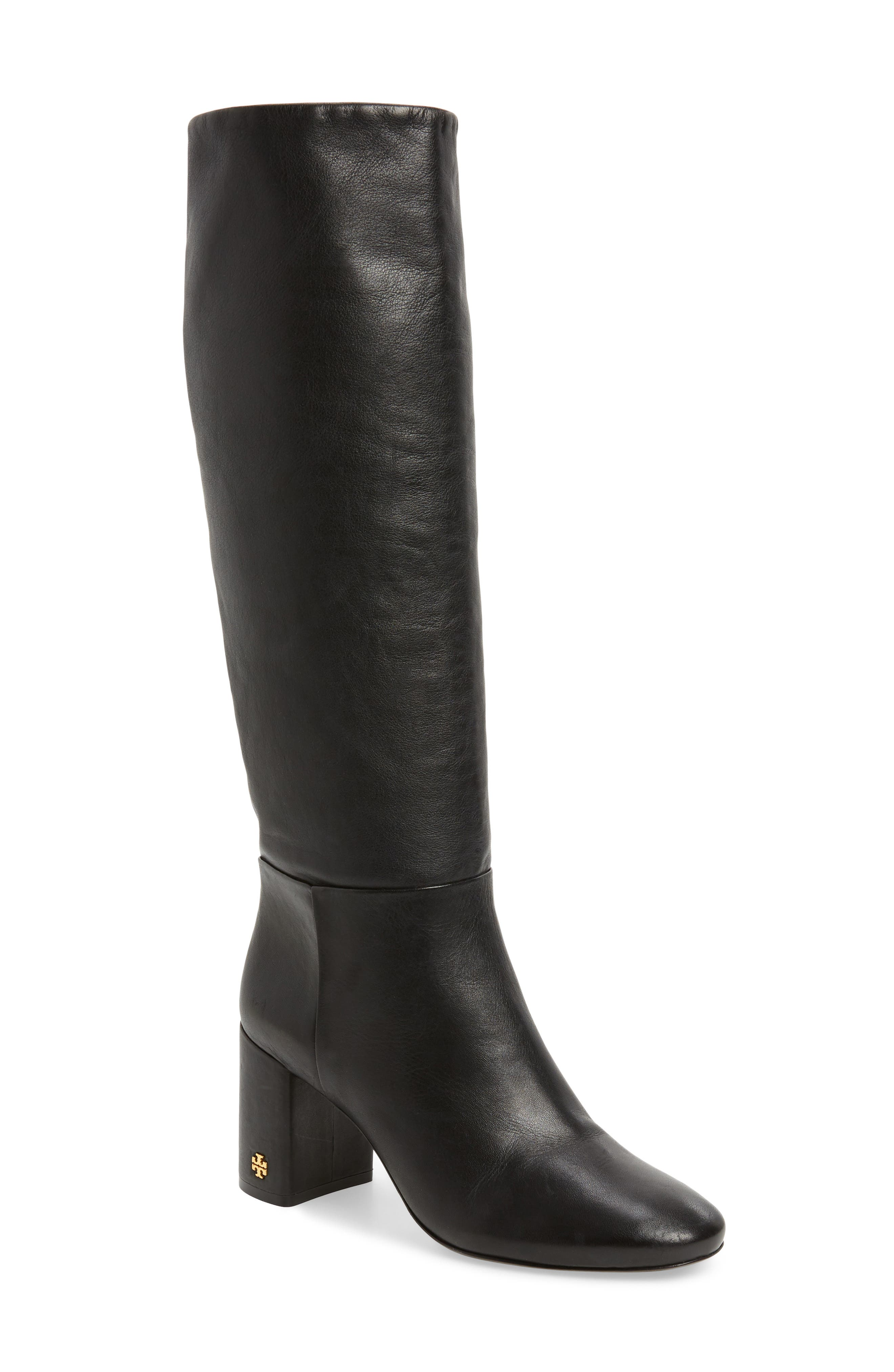 Brooke Slouchy Boot,                         Main,                         color, Perfect Black