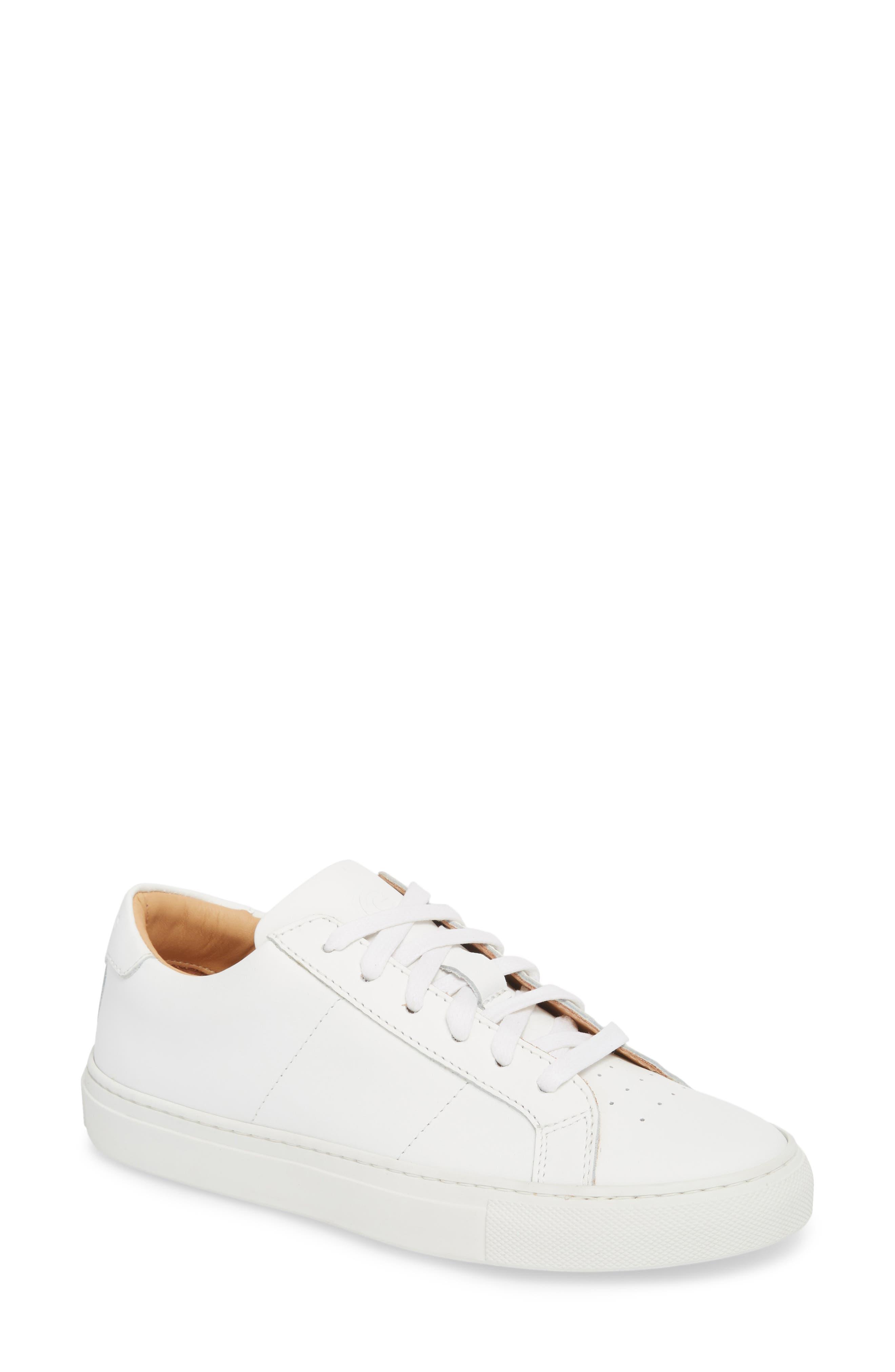 Royale Sneaker,                             Main thumbnail 1, color,                             White Flat Leather