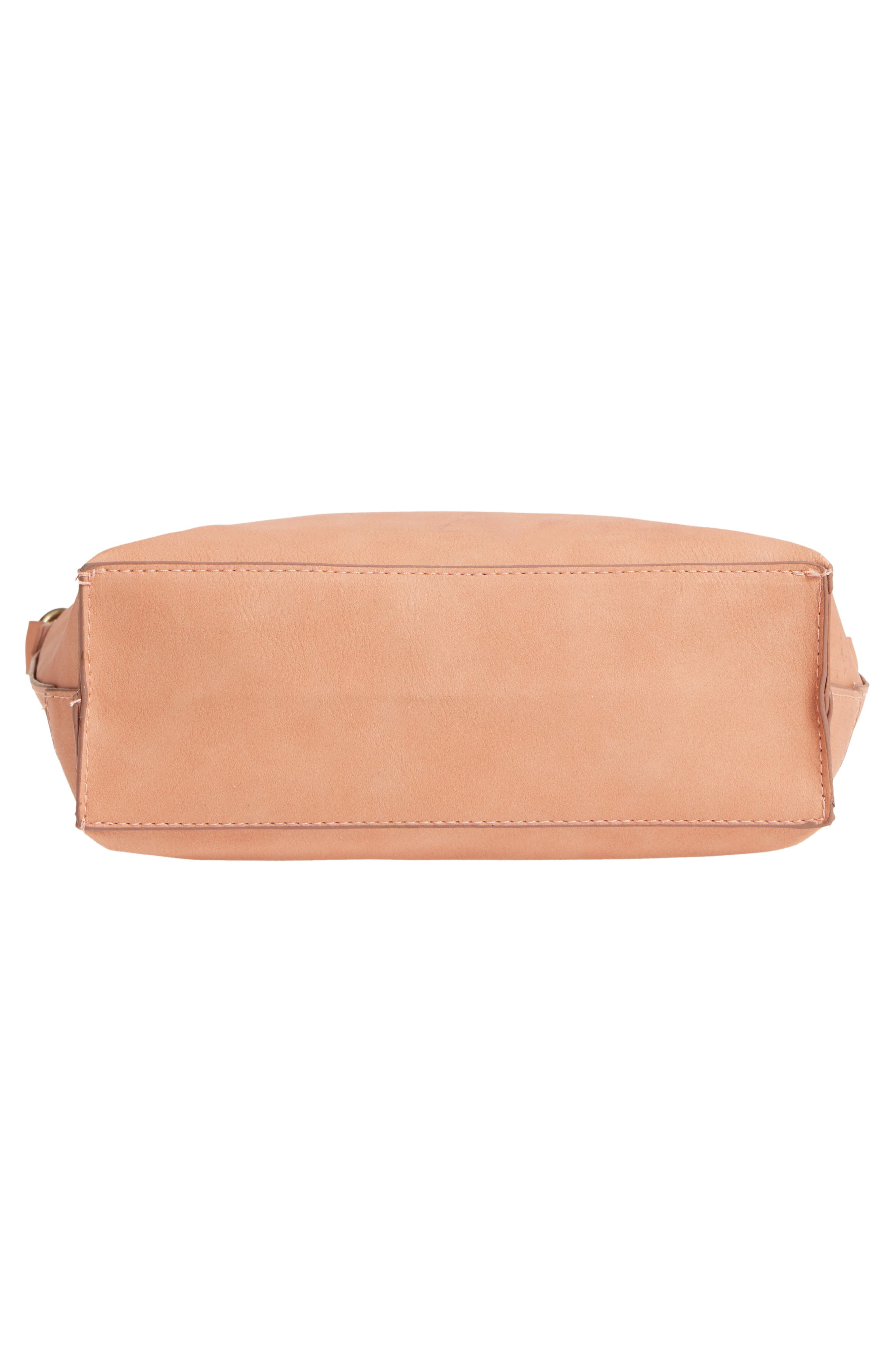 Wood Handle Stitched Tote,                             Alternate thumbnail 6, color,                             Clay
