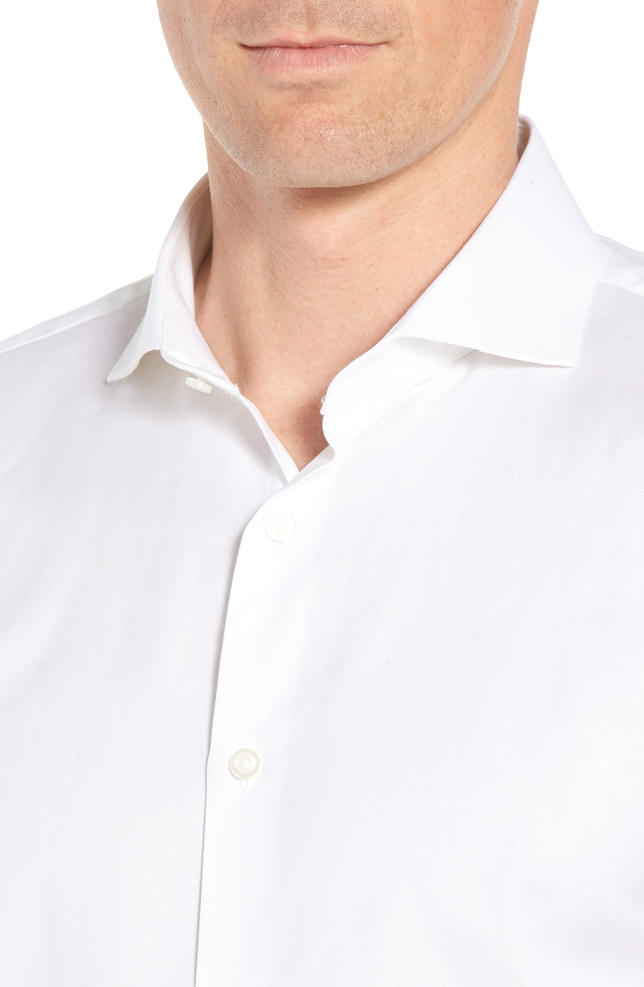 Traditional Fit Solid Dress Shirt,                             Alternate thumbnail 2, color,                             White