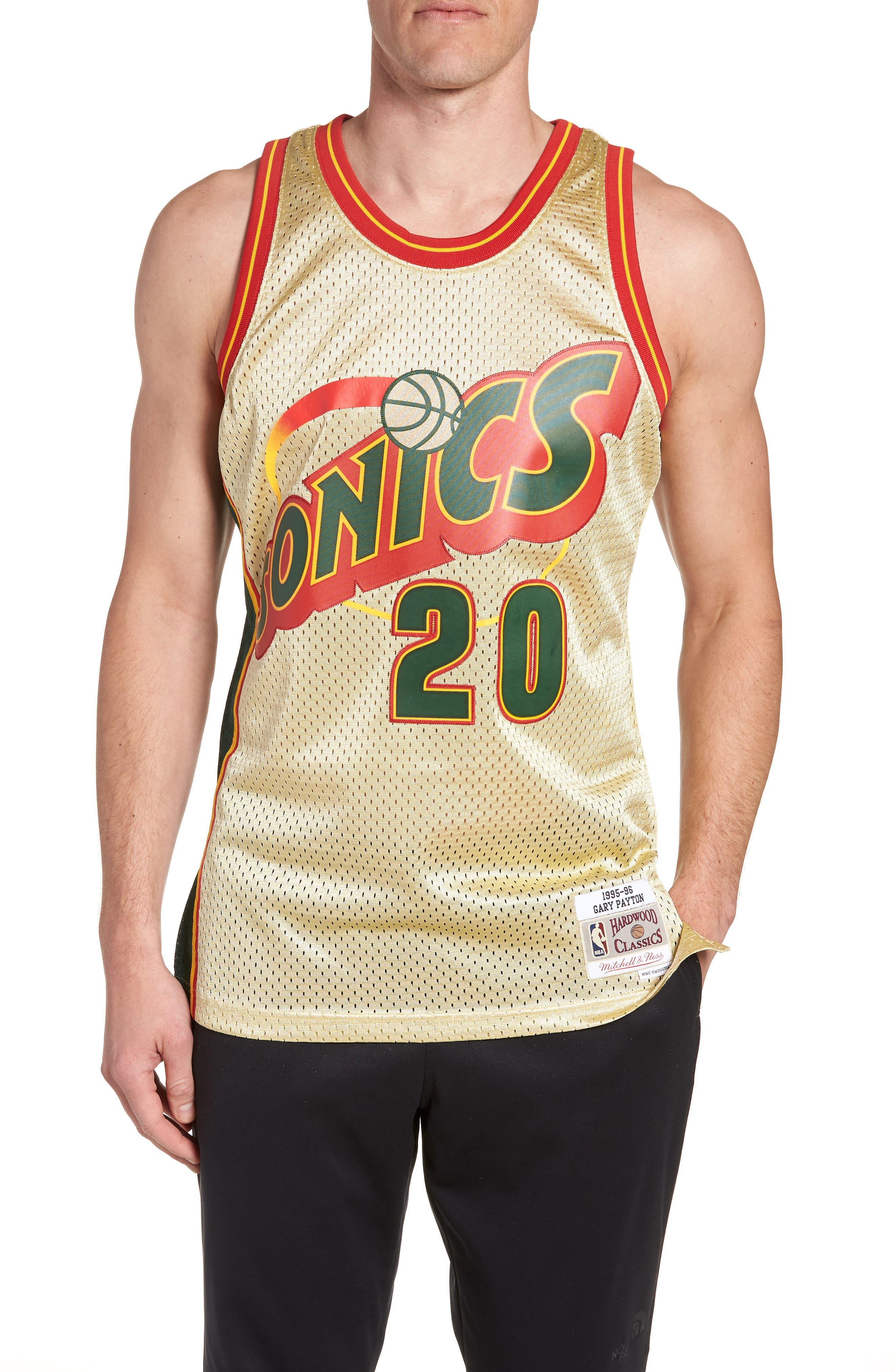 NBA Gold Payton Jersey,                             Main thumbnail 1, color,                             Gold