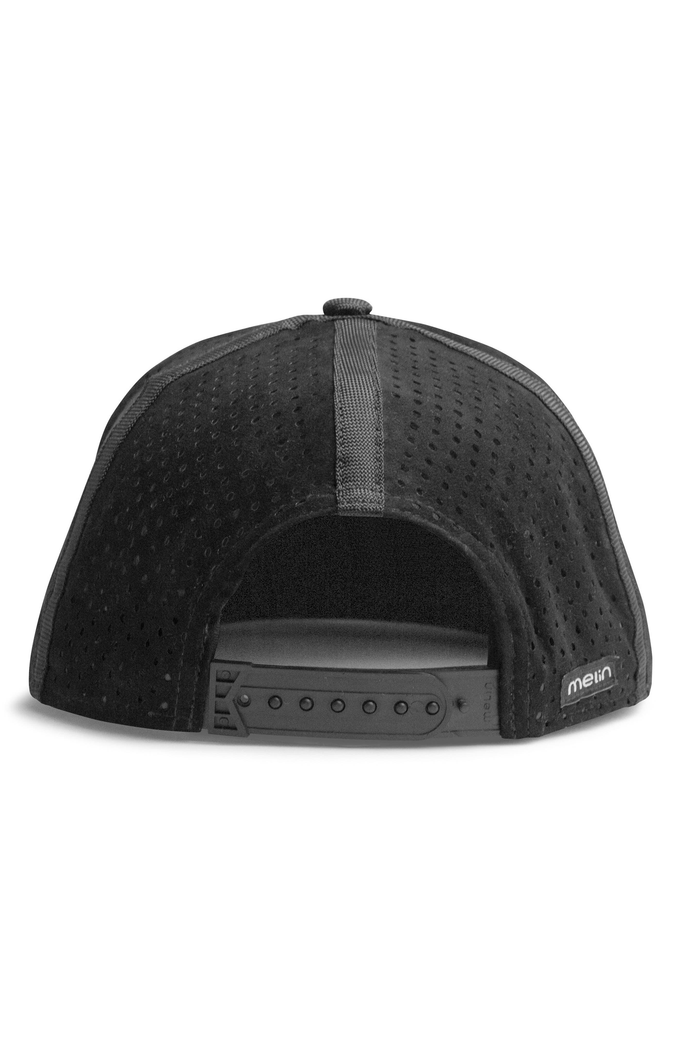 'Amphibian' Split Fit Snapback Baseball Cap,                             Alternate thumbnail 5, color,                             Black/ Black