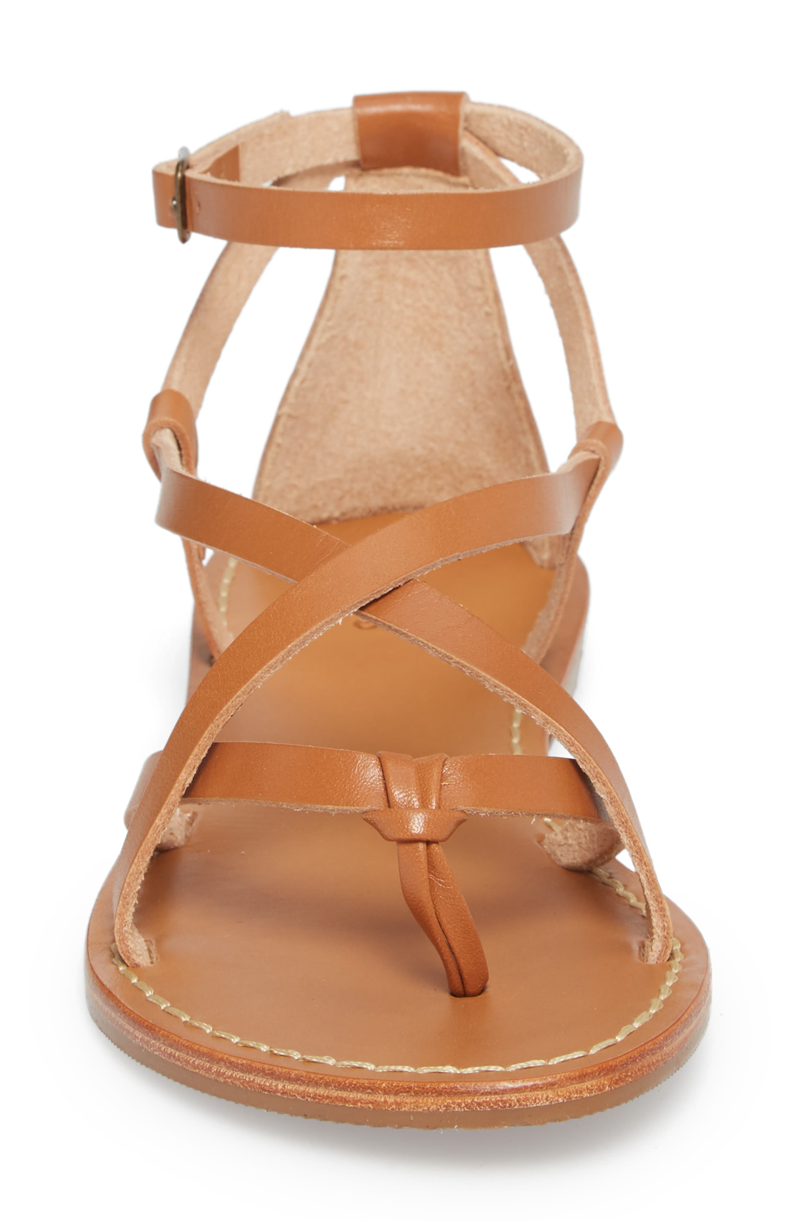 Strappy Sandal,                             Alternate thumbnail 4, color,                             Nude