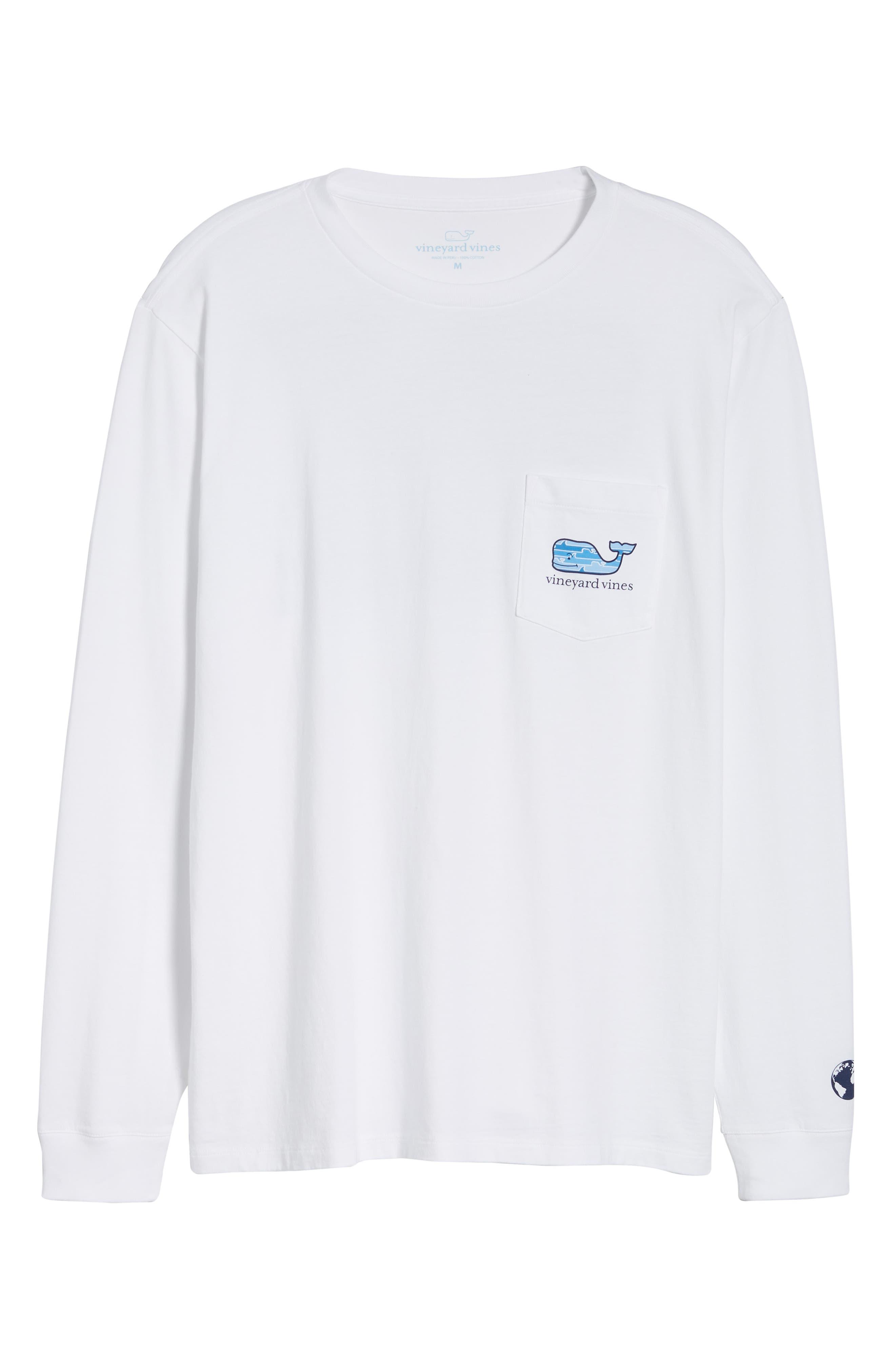 x Shark Week<sup>™</sup> Whaleline Long Sleeve Pocket T-Shirt,                             Alternate thumbnail 6, color,                             White Cap